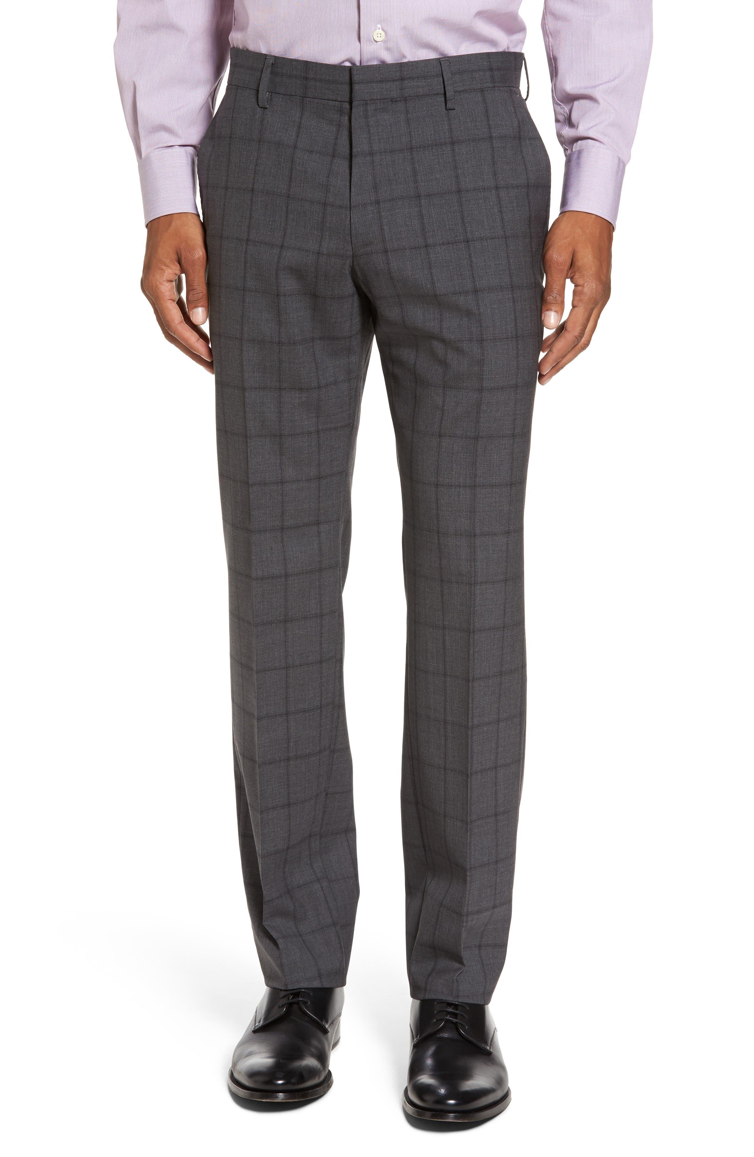 Huge/Genius Trim Fit Check Suit,                             Alternate thumbnail 6, color,                             061