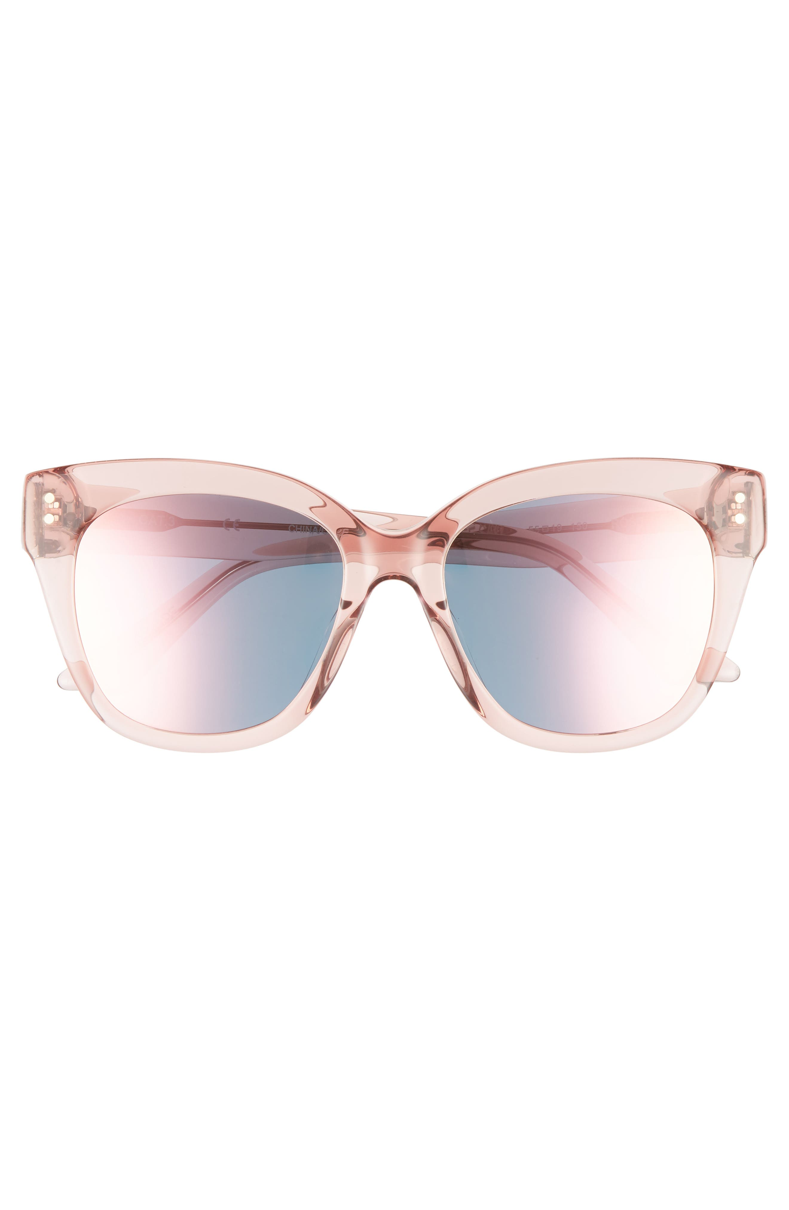 See Saw 55mm Cat Eye Sunglasses,                             Alternate thumbnail 3, color,                             650