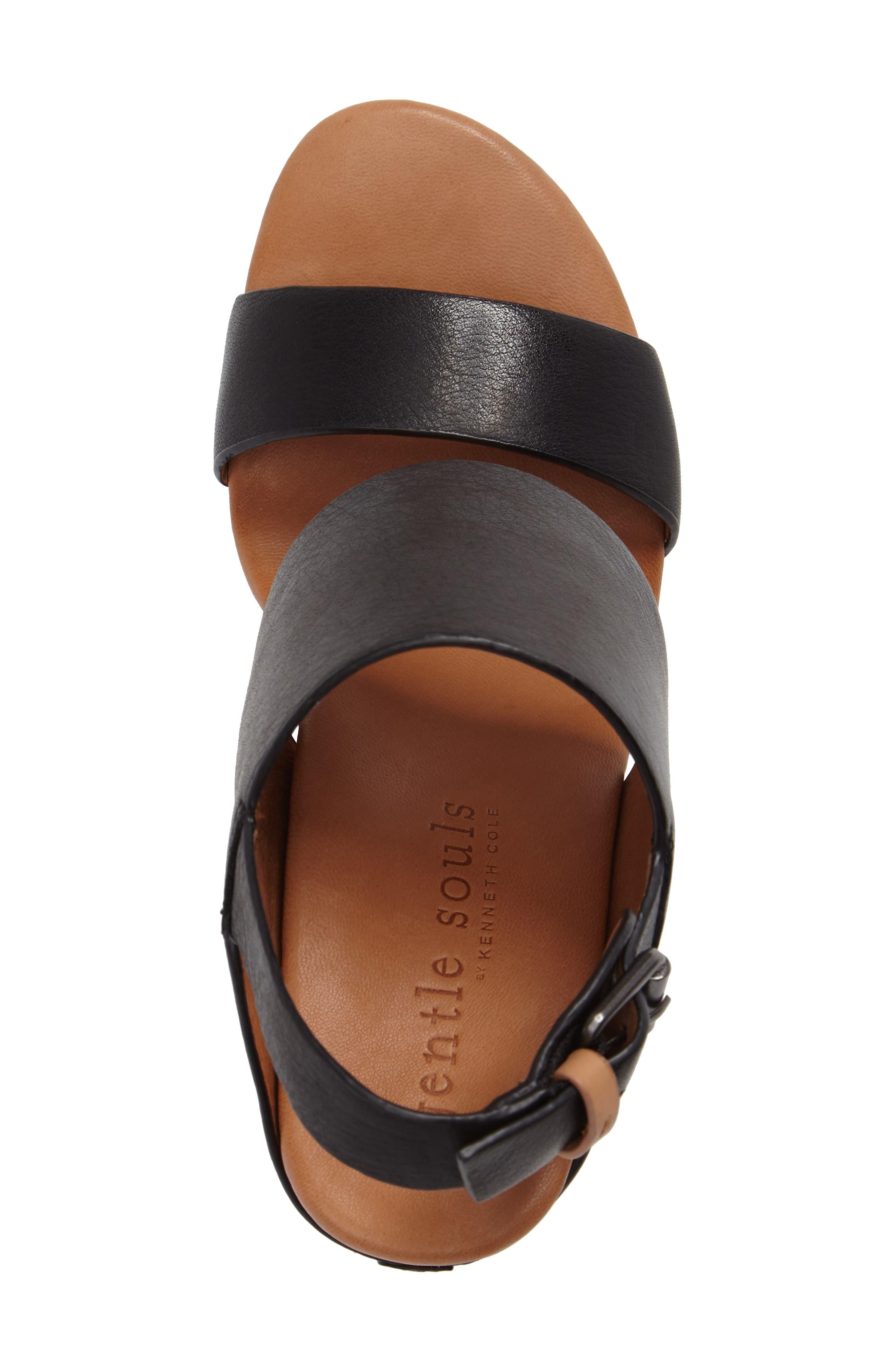 Inka Wedge Sandal,                             Alternate thumbnail 5, color,                             001