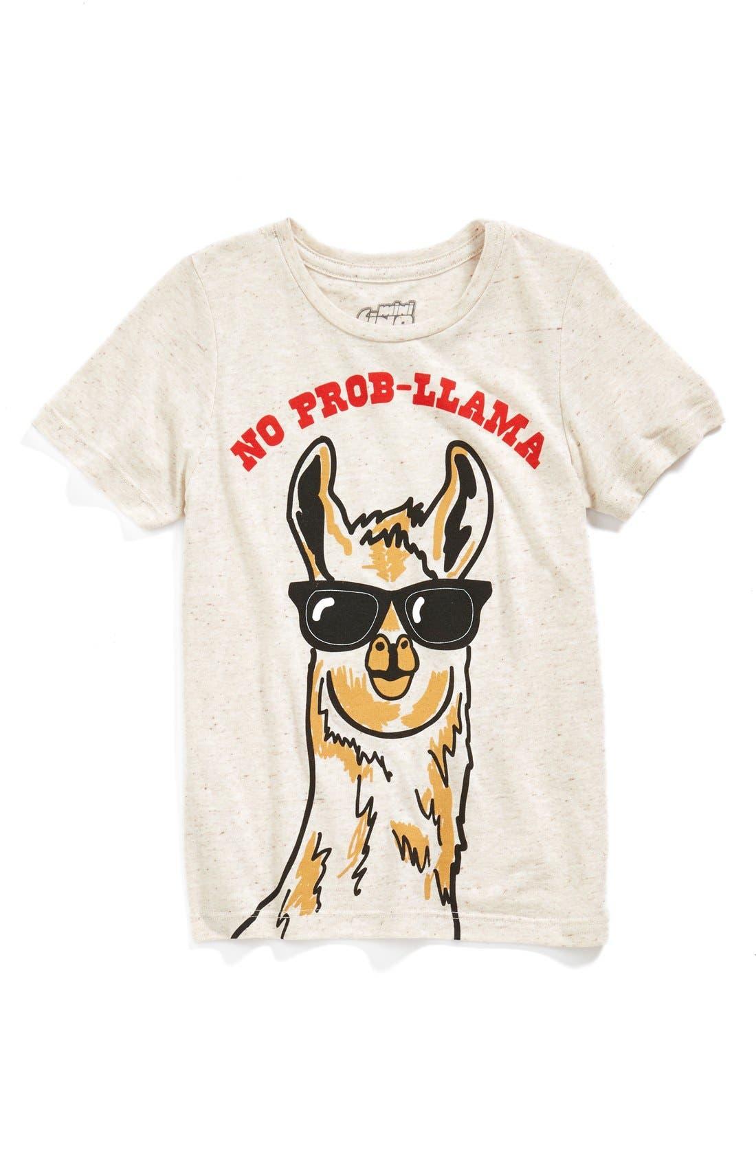 'No Prob-llama' T-Shirt,                             Main thumbnail 1, color,                             057