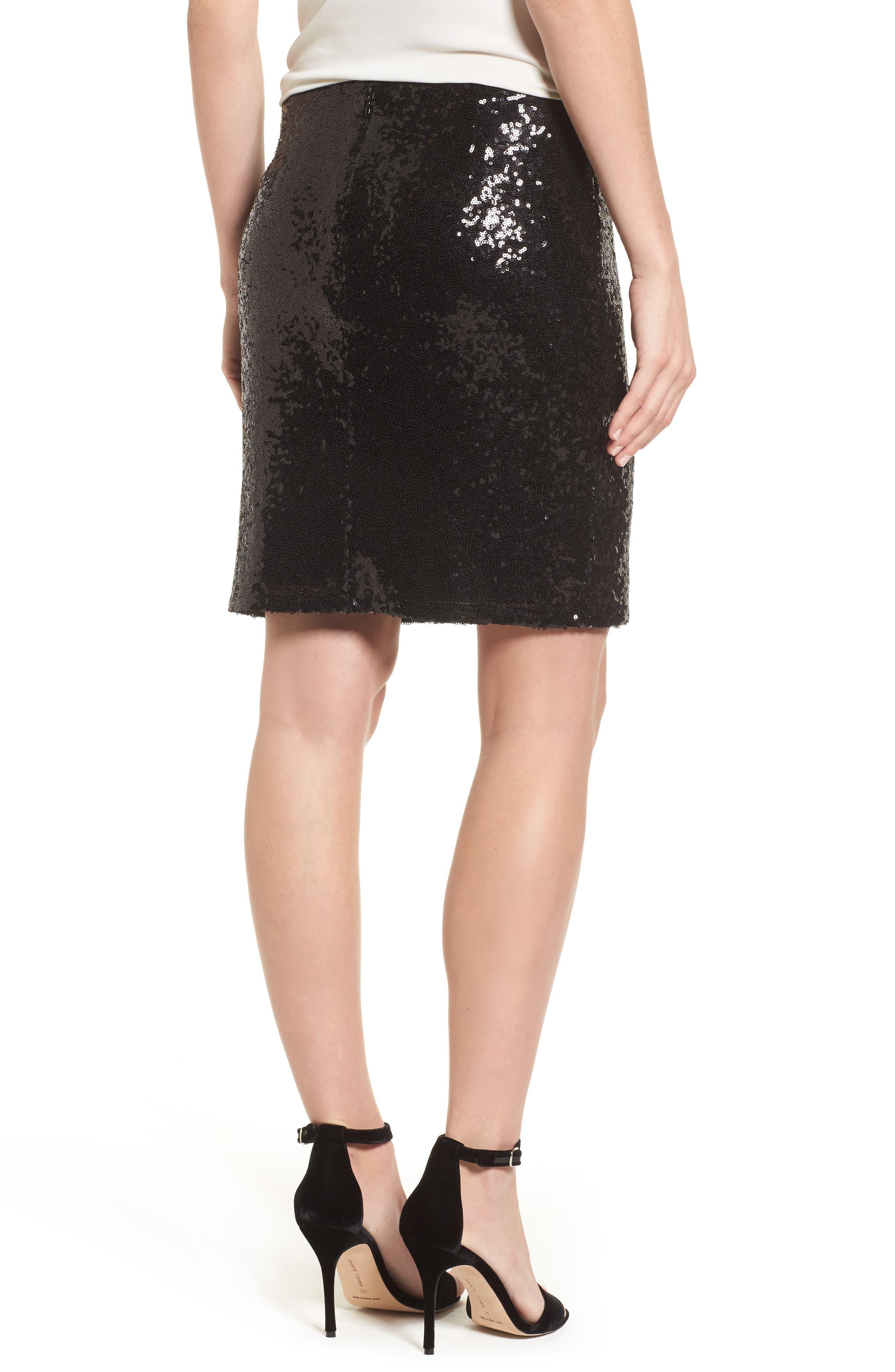 Short Sequin Skirt,                             Alternate thumbnail 2, color,                             001