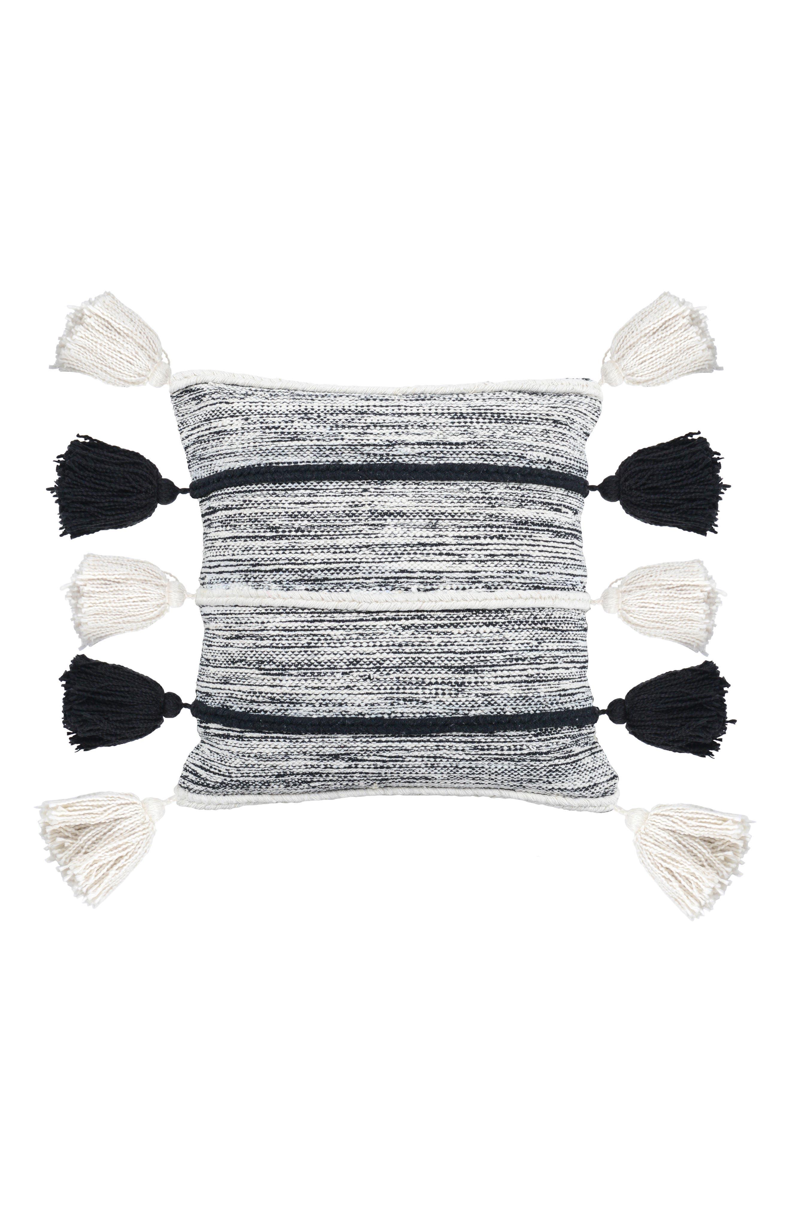VILLA HOME COLLECTION Elan Accent Pillow, Main, color, BLACK/ IVORY