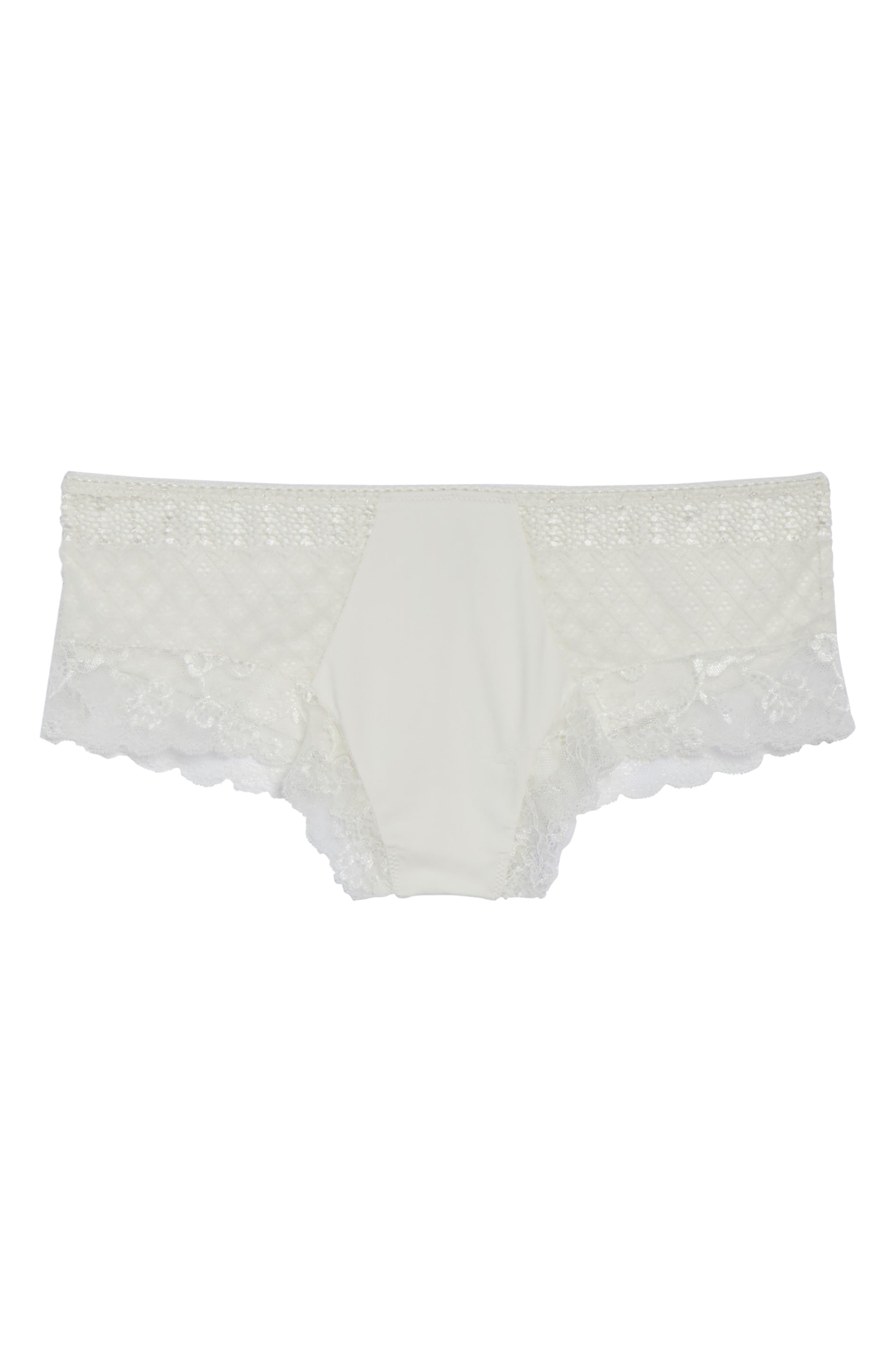 Honeydew Microfiber & Lace Hipster Panties,                             Alternate thumbnail 15, color,