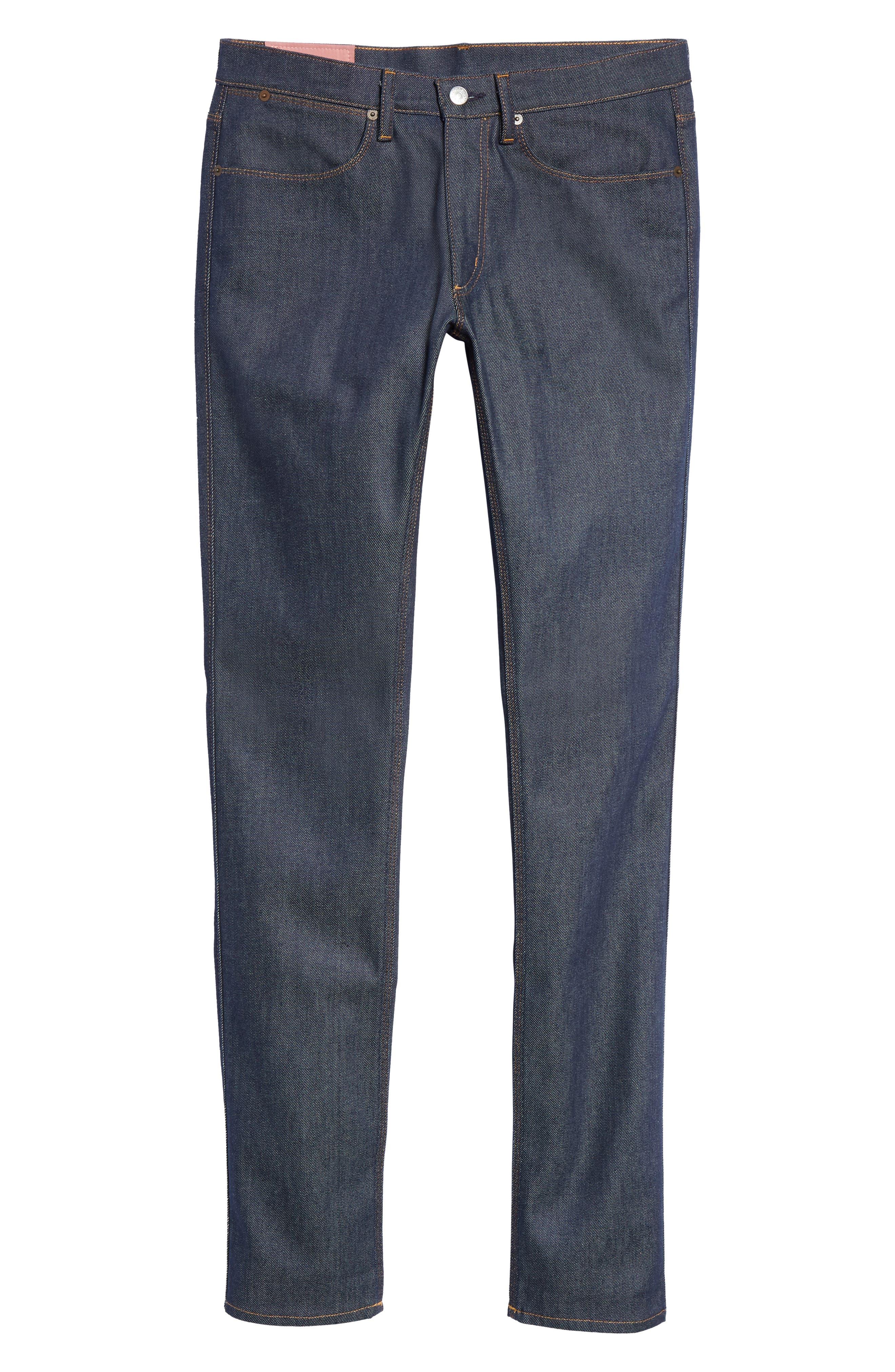Max Slim Straight Leg Jeans,                             Alternate thumbnail 6, color,                             MAX INDIGO