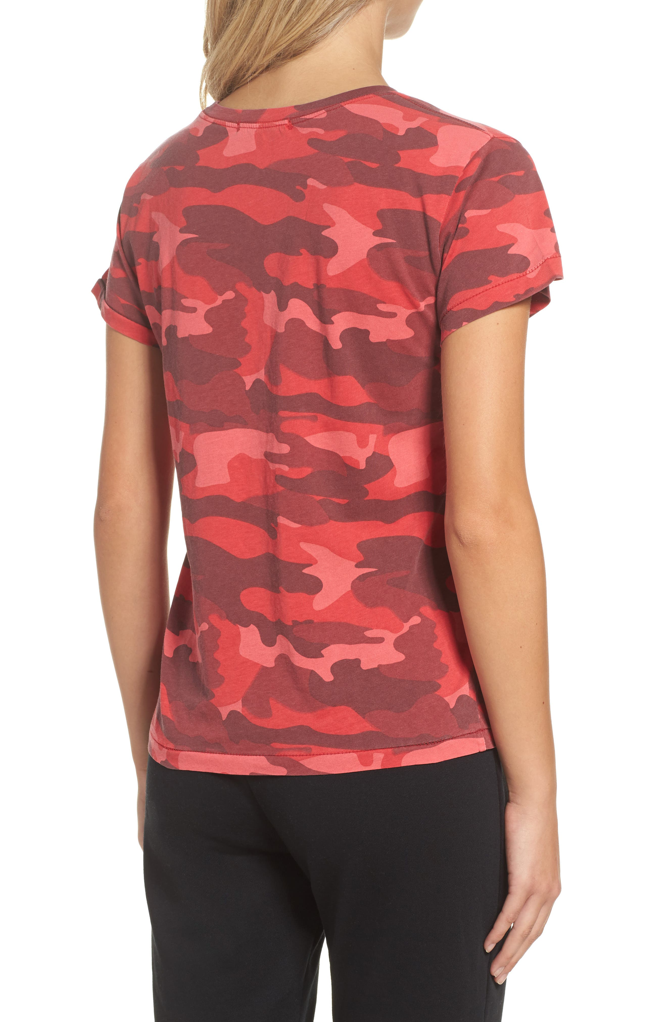 Distressed Camo Tee,                             Alternate thumbnail 2, color,                             600