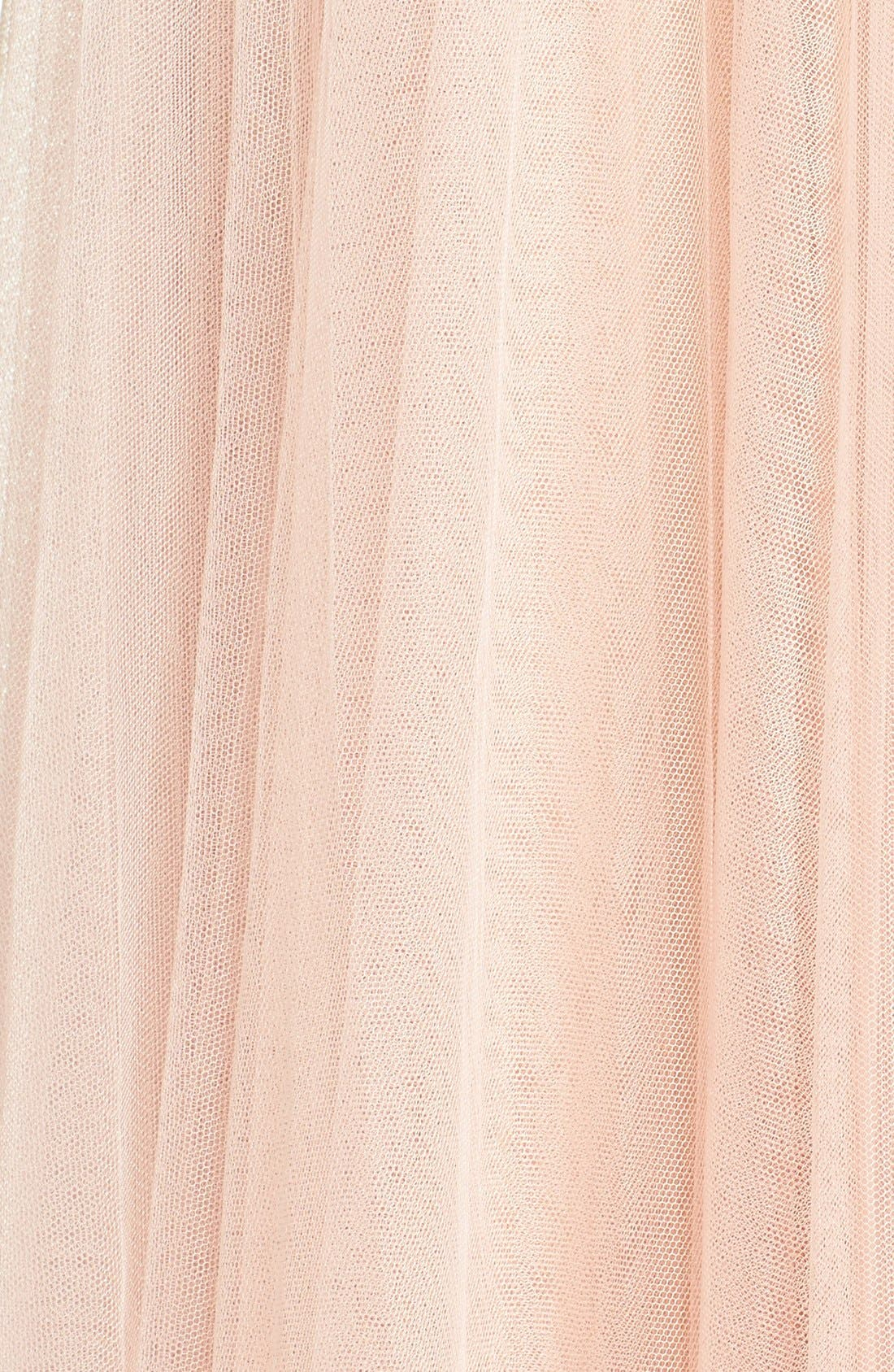 Winslow Long Tulle A-Line Skirt,                             Alternate thumbnail 11, color,                             CAMEO PINK