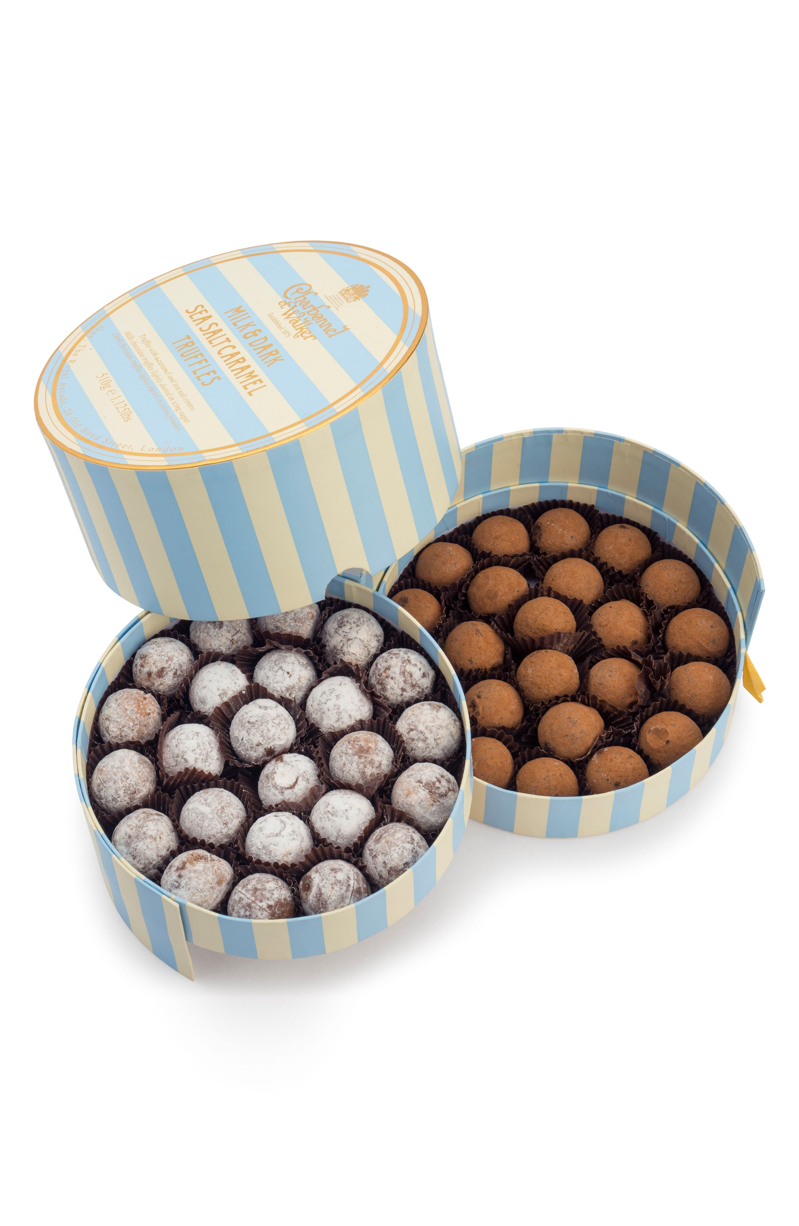 Flavored Chocolate Truffles in Gift Box,                             Main thumbnail 1, color,                             MILK/ DARK SEA SALT