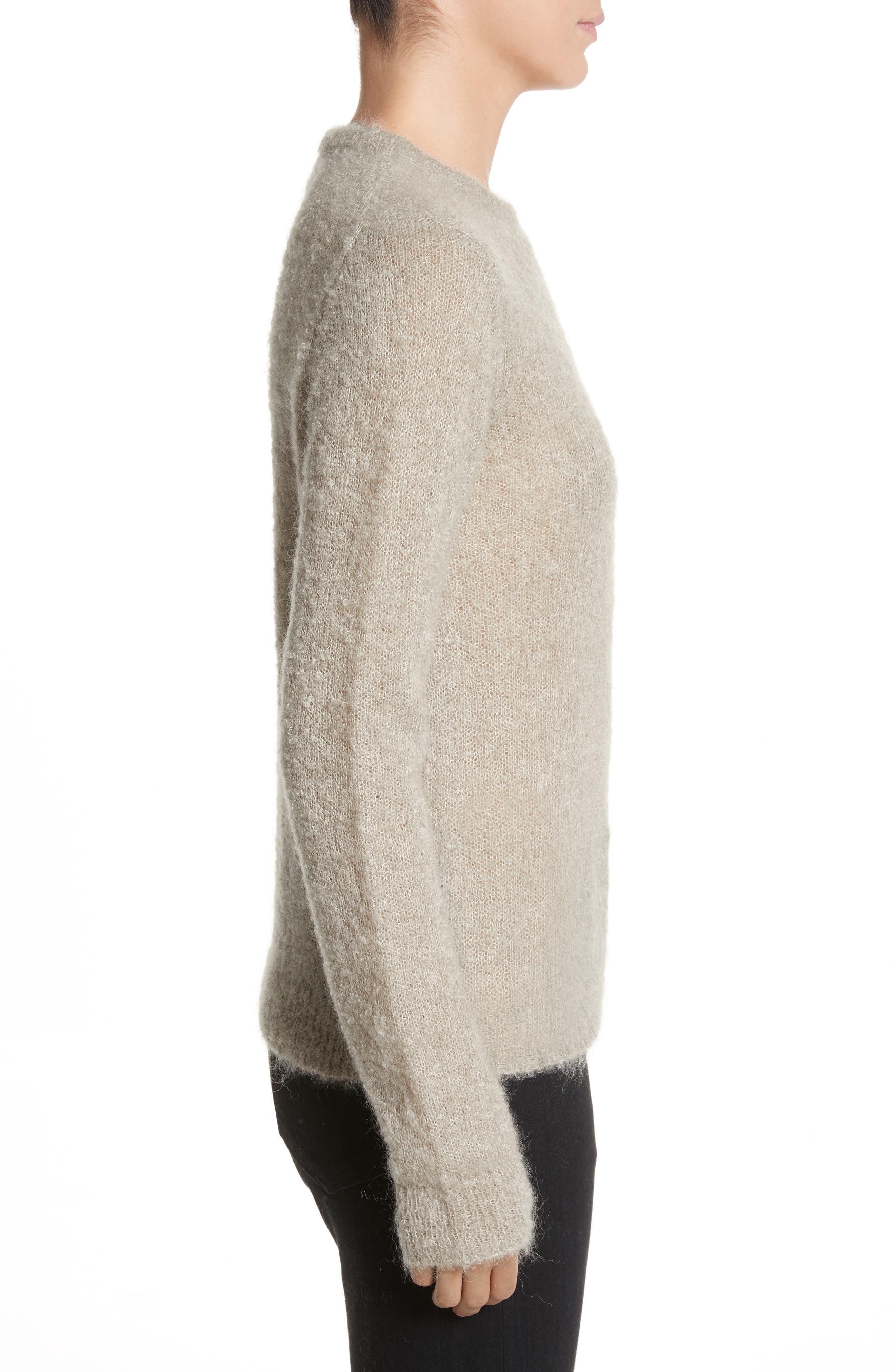Tatum Mohair & Silk Sweater,                             Alternate thumbnail 3, color,                             020