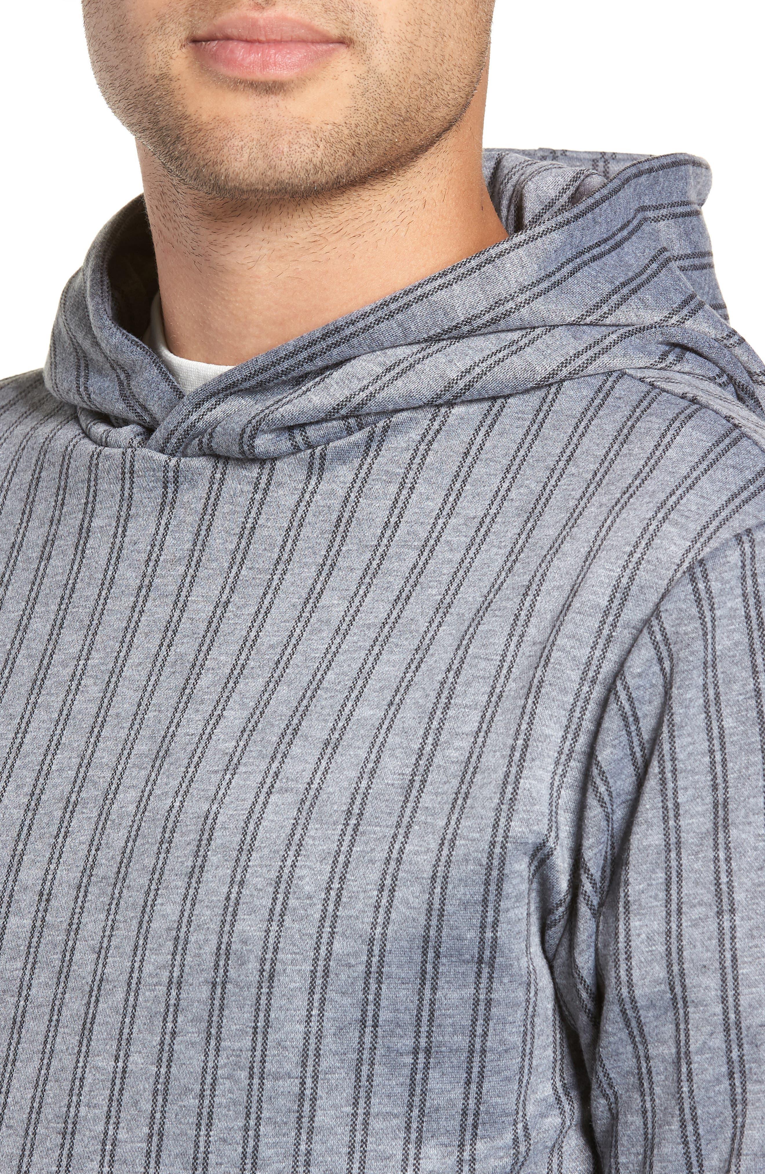 Pinstripe Hoodie,                             Alternate thumbnail 4, color,                             020