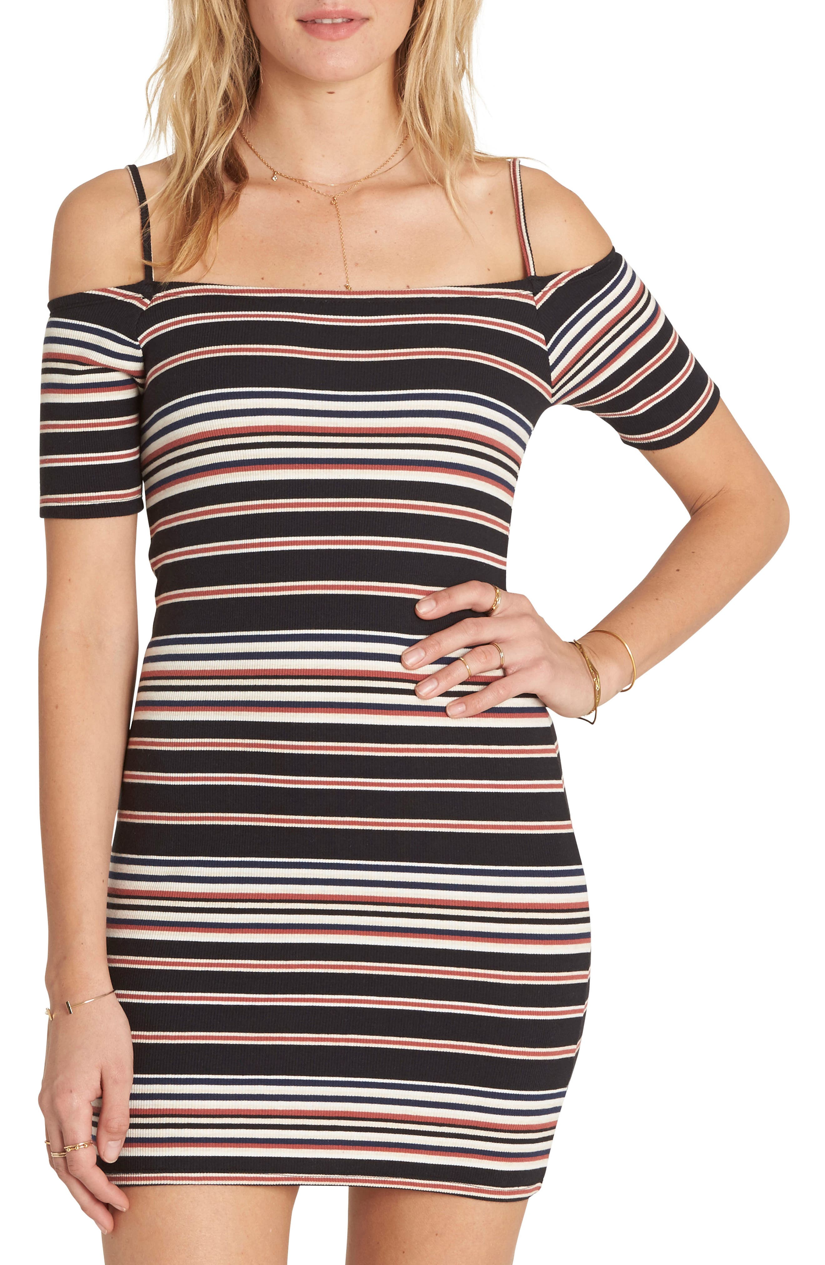 Checked Out Body-Con Minidress,                             Main thumbnail 1, color,