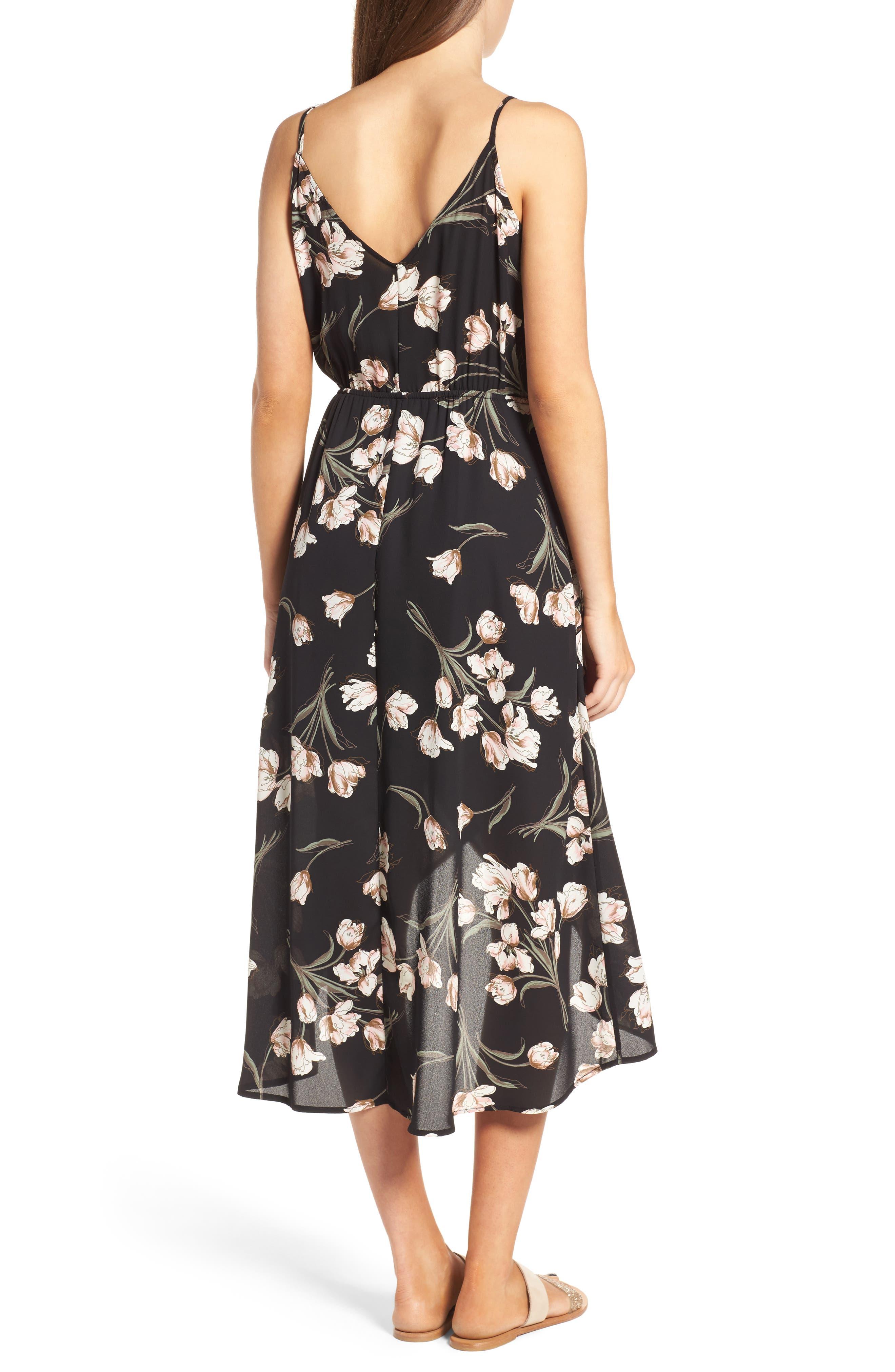 Ruffle Surplice Dress,                             Alternate thumbnail 5, color,