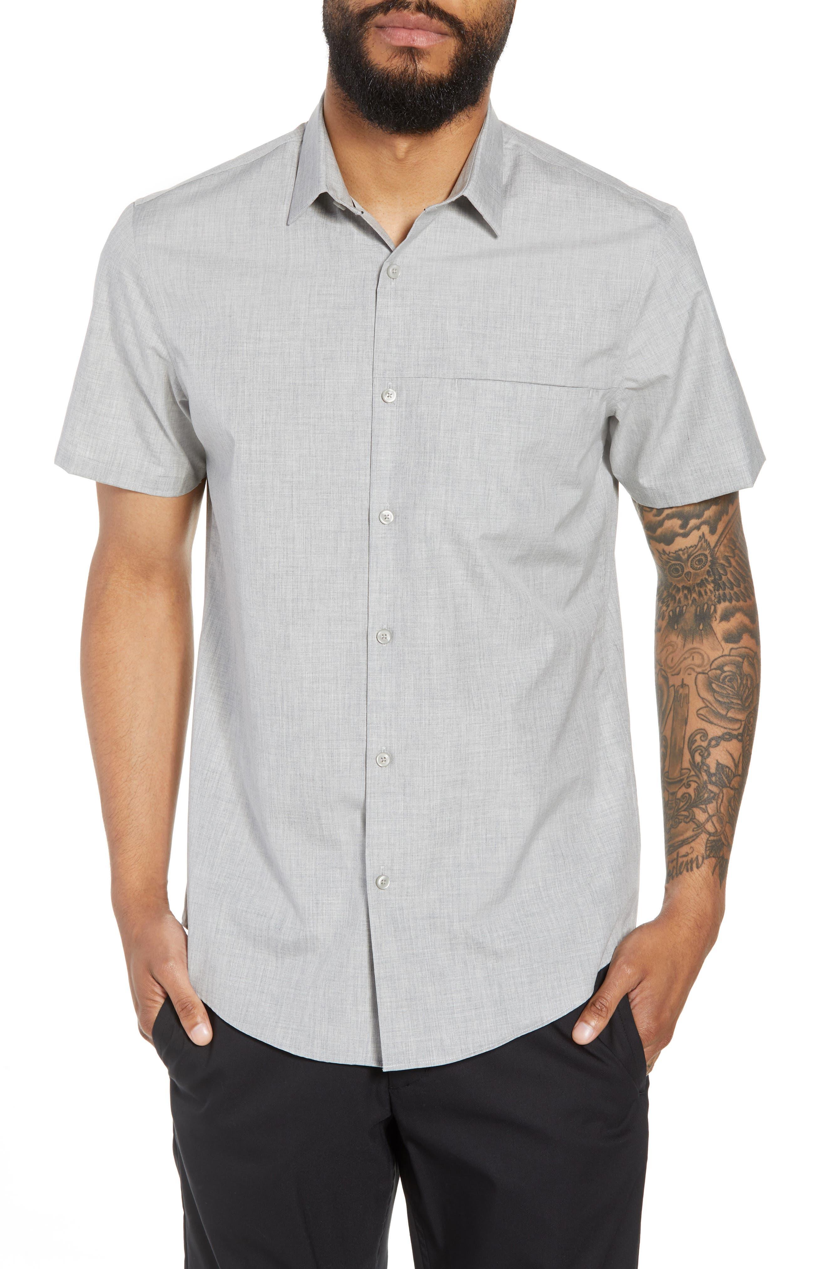 Trim Fit Slash Pocket Sport Shirt,                         Main,                         color, 050