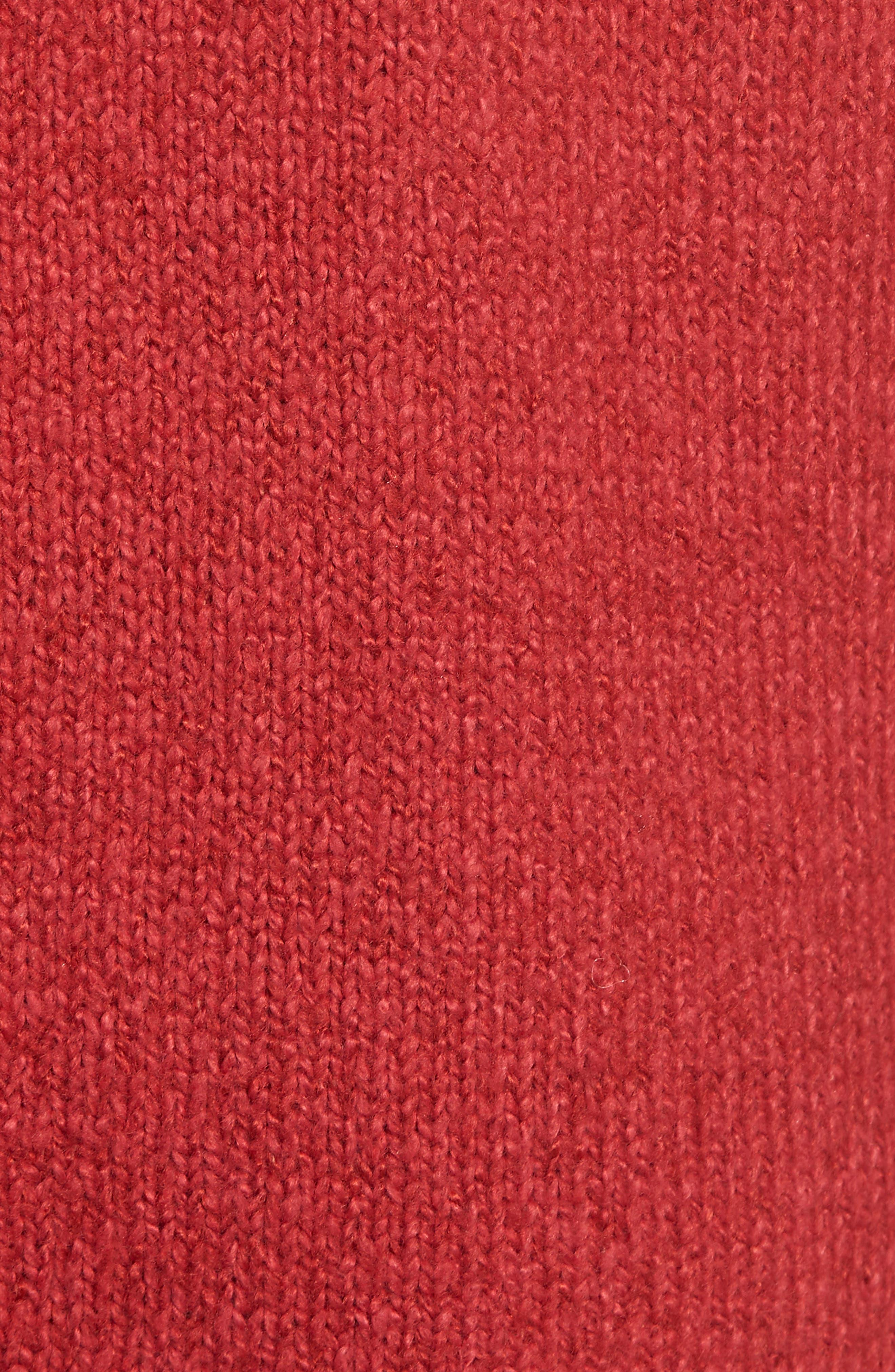 Cotton Blend Cardigan,                             Alternate thumbnail 5, color,                             RED