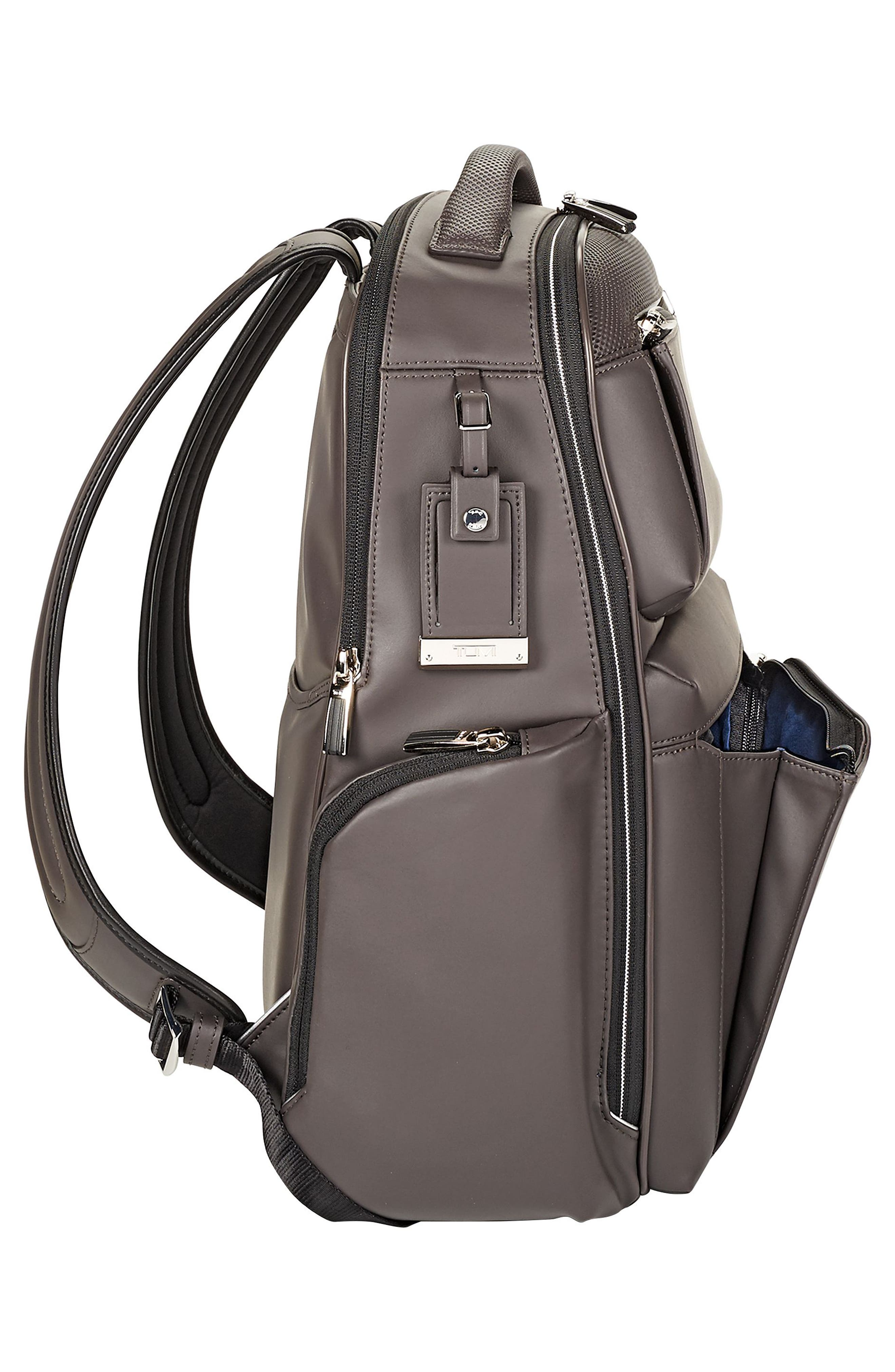 Arrivé - Bradley Leather Backpack,                             Alternate thumbnail 4, color,                             TAUPE
