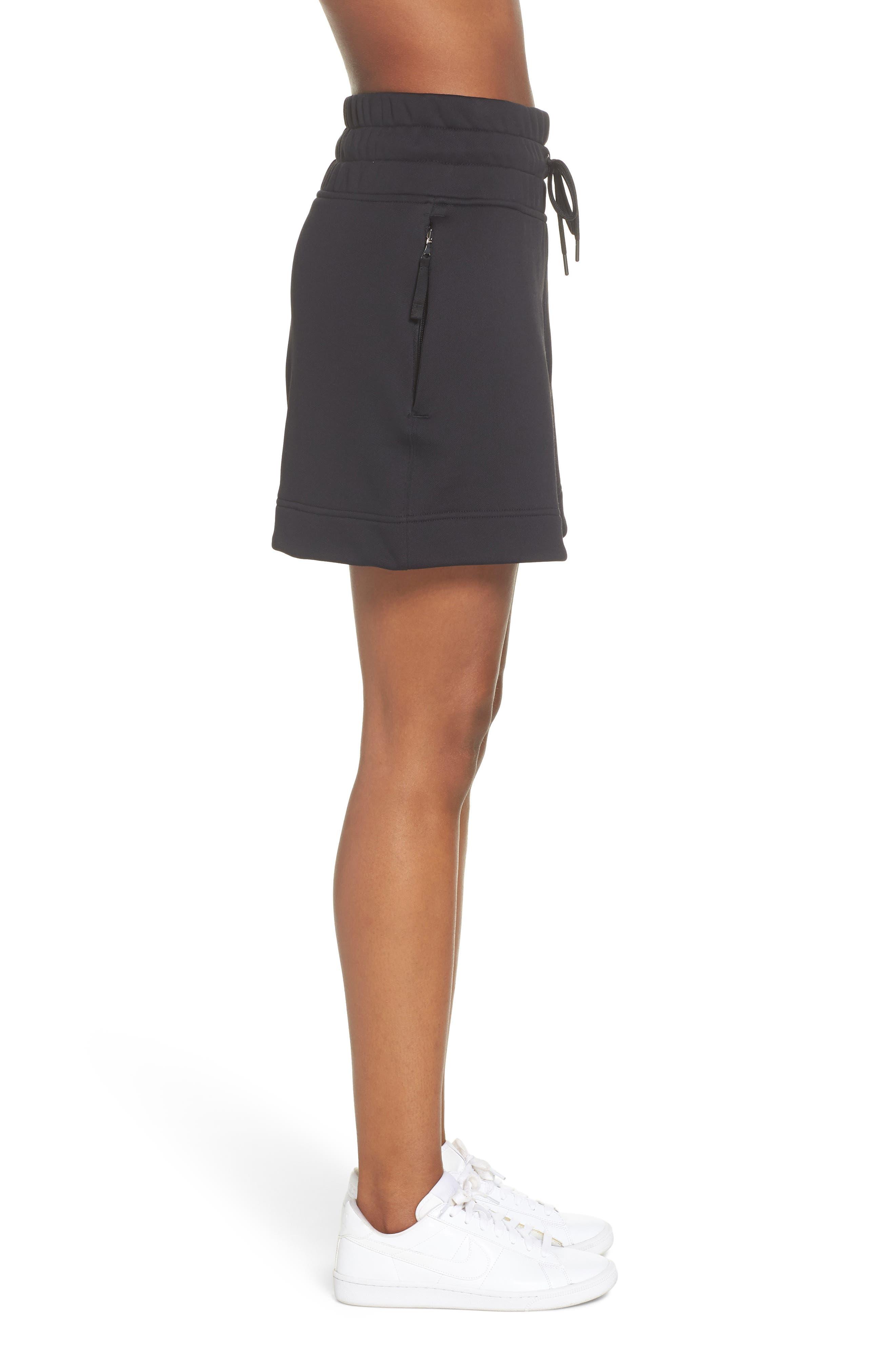 NikeLab Collection Women's Fleece Shorts,                             Alternate thumbnail 3, color,                             BLACK/ BLACK