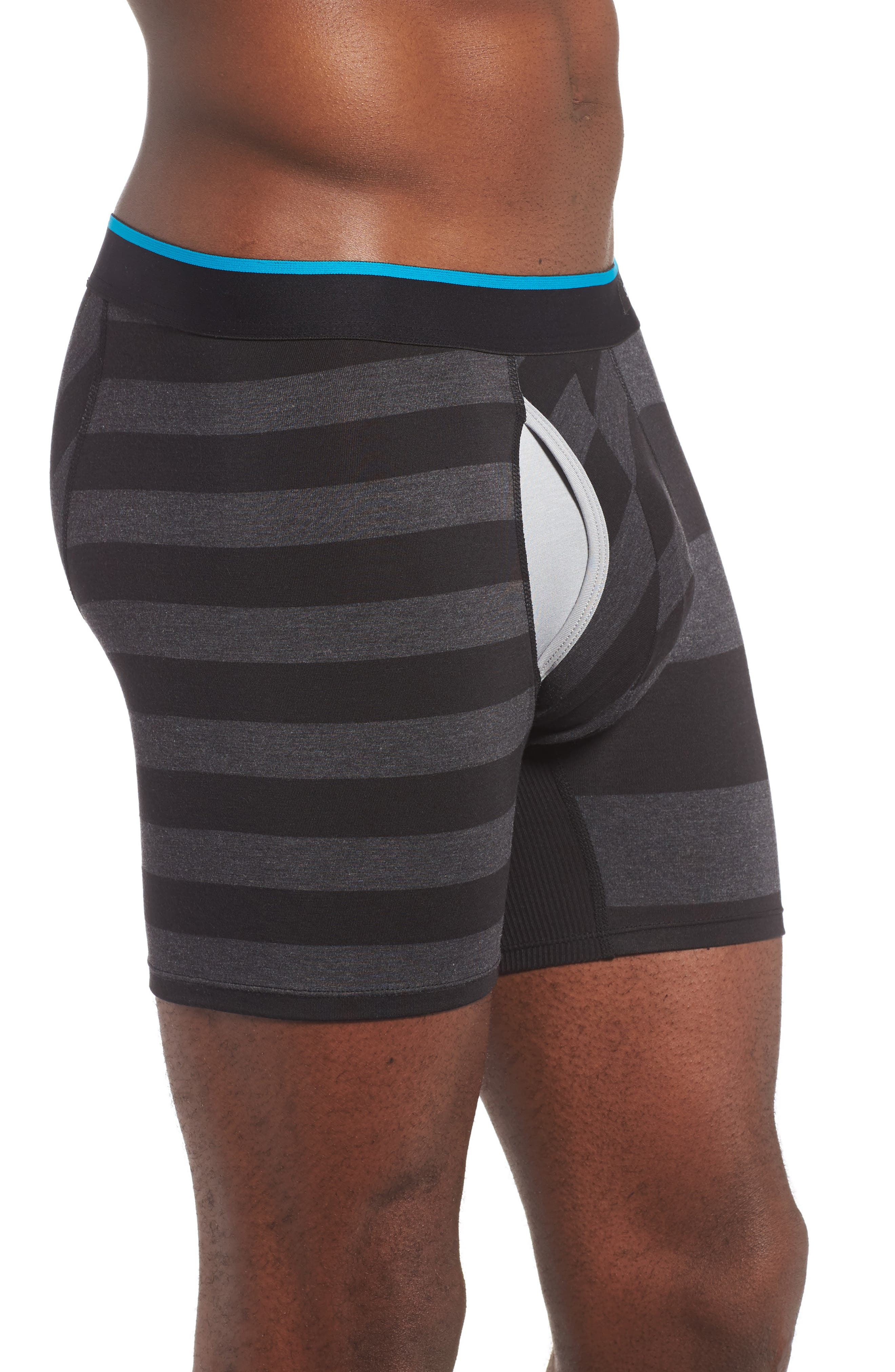 The Basilone - Mariner Stretch Modal Boxer Briefs,                             Alternate thumbnail 3, color,                             001