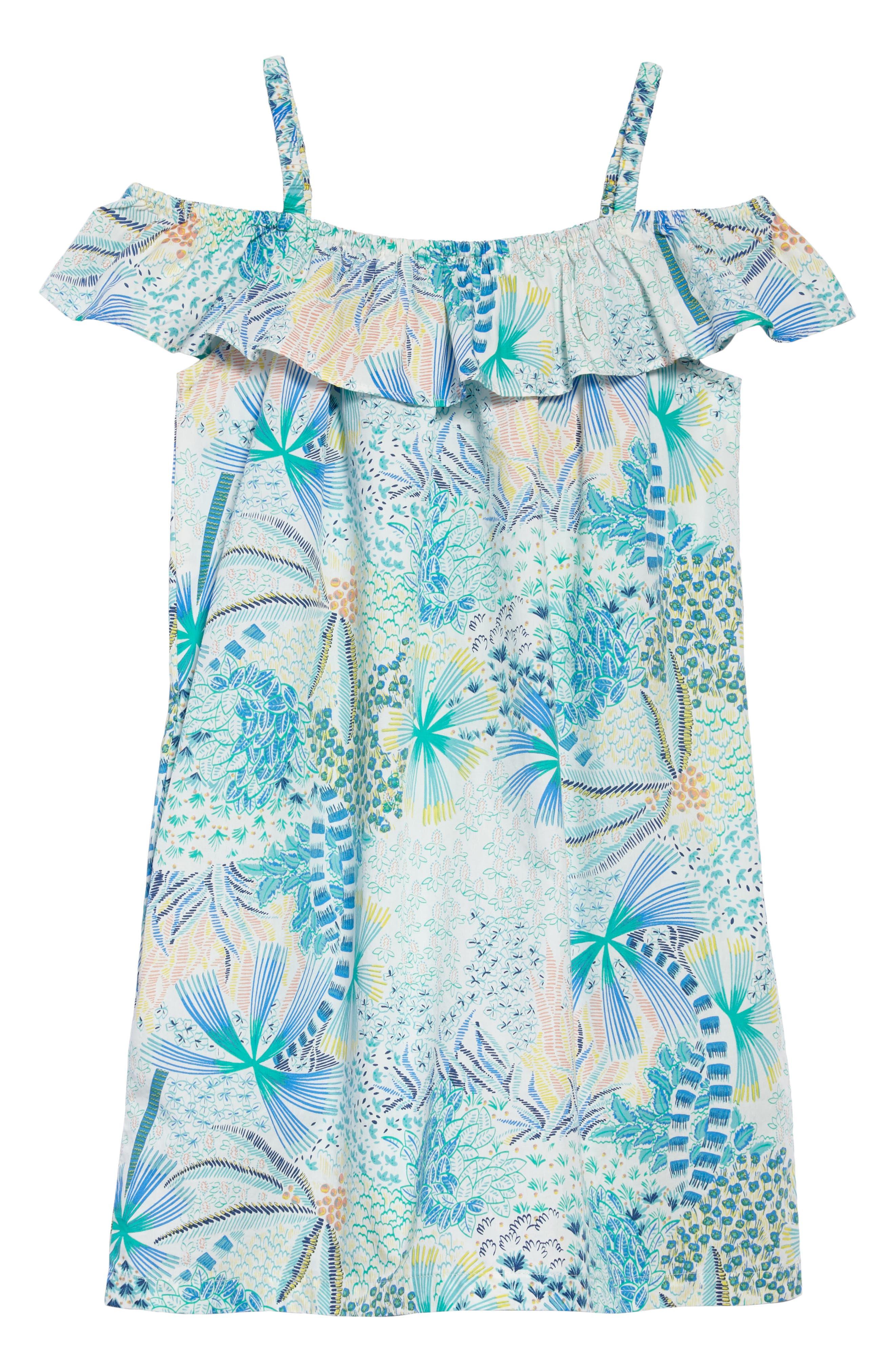 Ruffle Neck Dress,                             Main thumbnail 1, color,