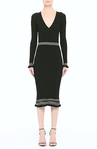 Ruffle Hem Knit Dress, video thumbnail