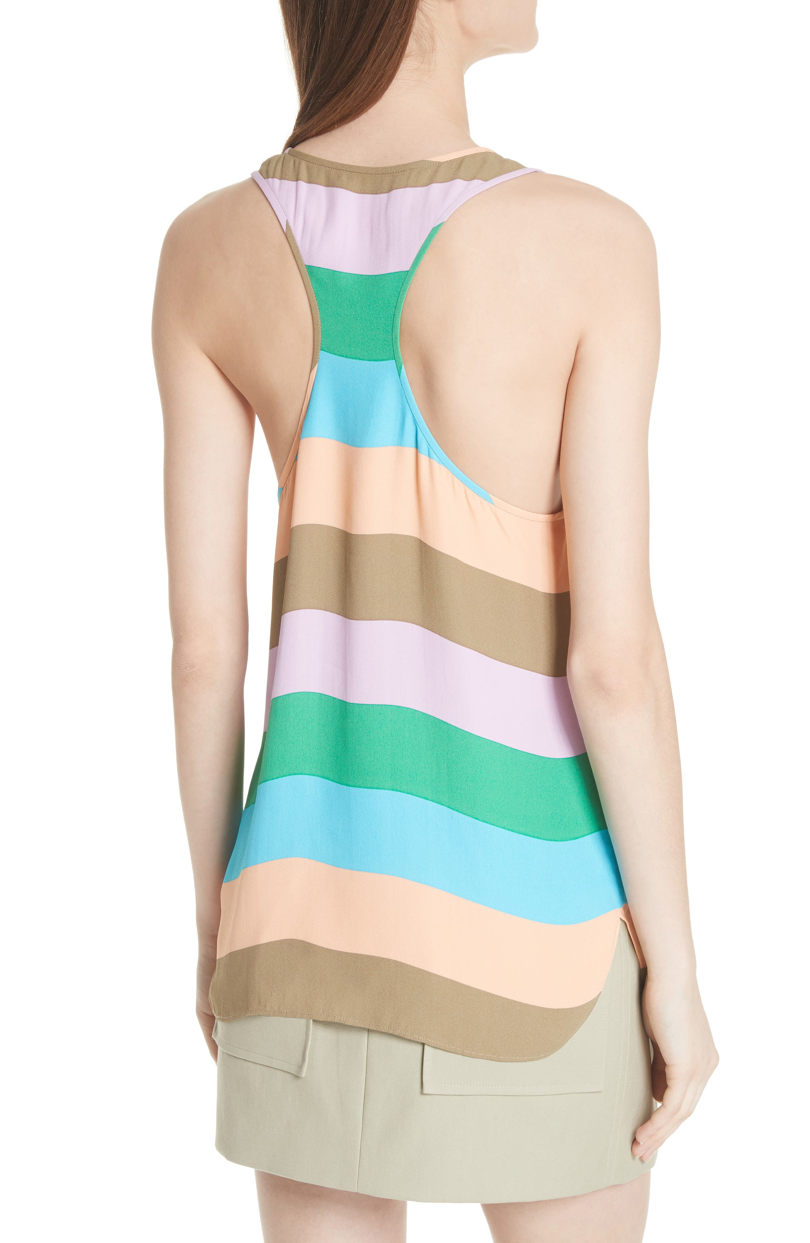 Julian Stripe Tank,                             Alternate thumbnail 2, color,                             620
