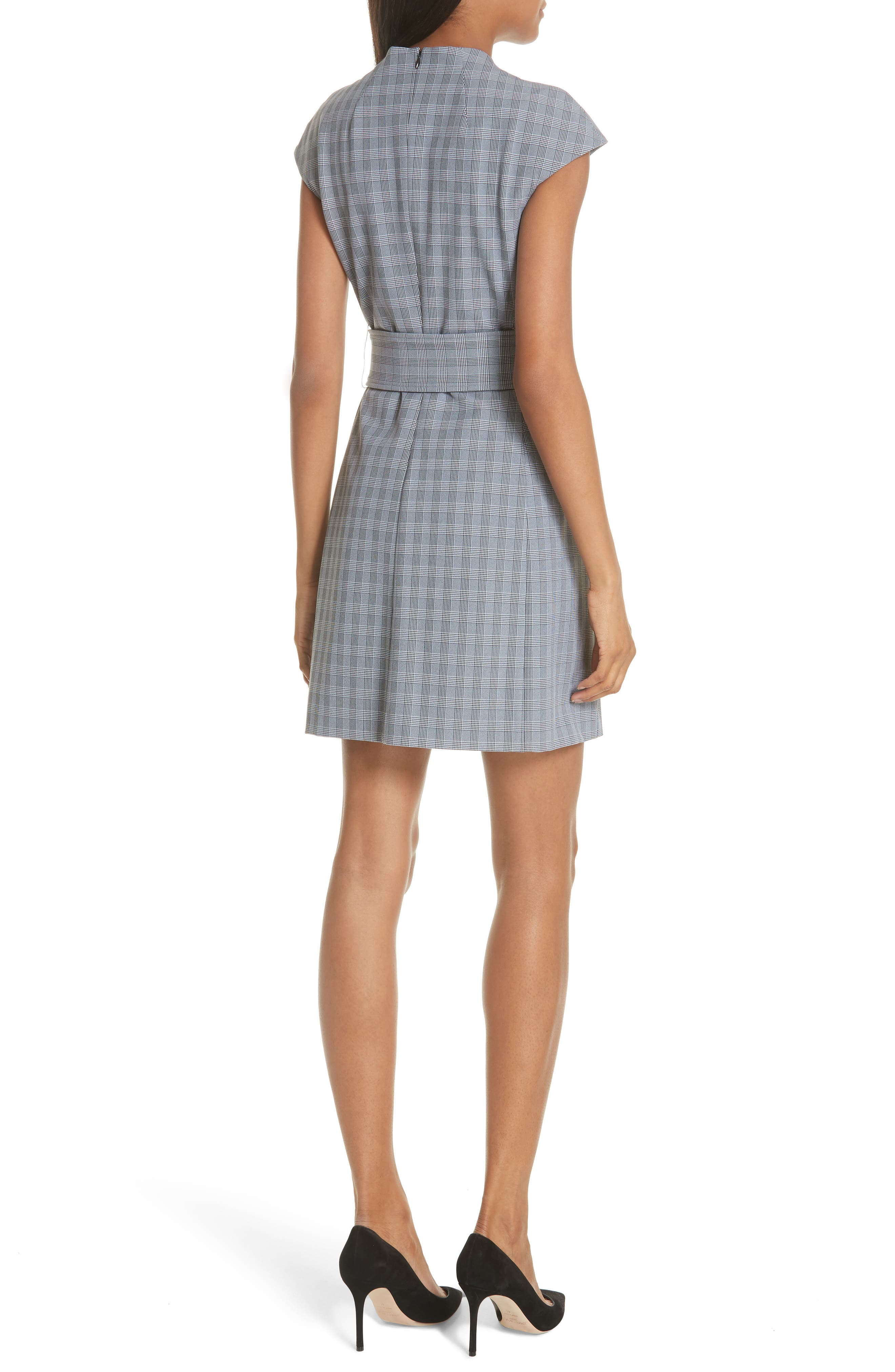 McClair Plaid Mod Belted Sheath Dress,                             Alternate thumbnail 2, color,                             009