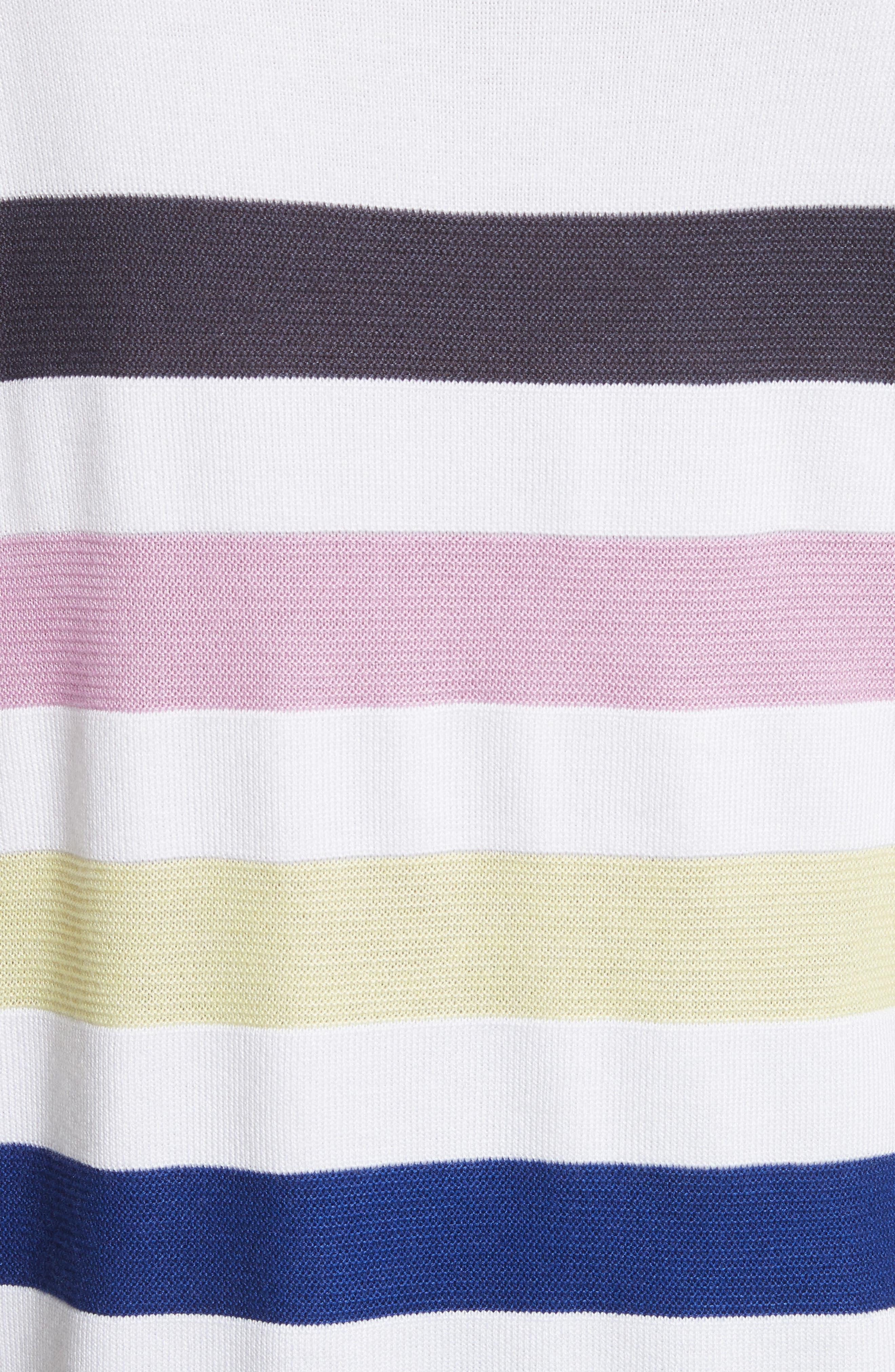 Links Stripe Knit Sweater,                             Alternate thumbnail 5, color,                             100