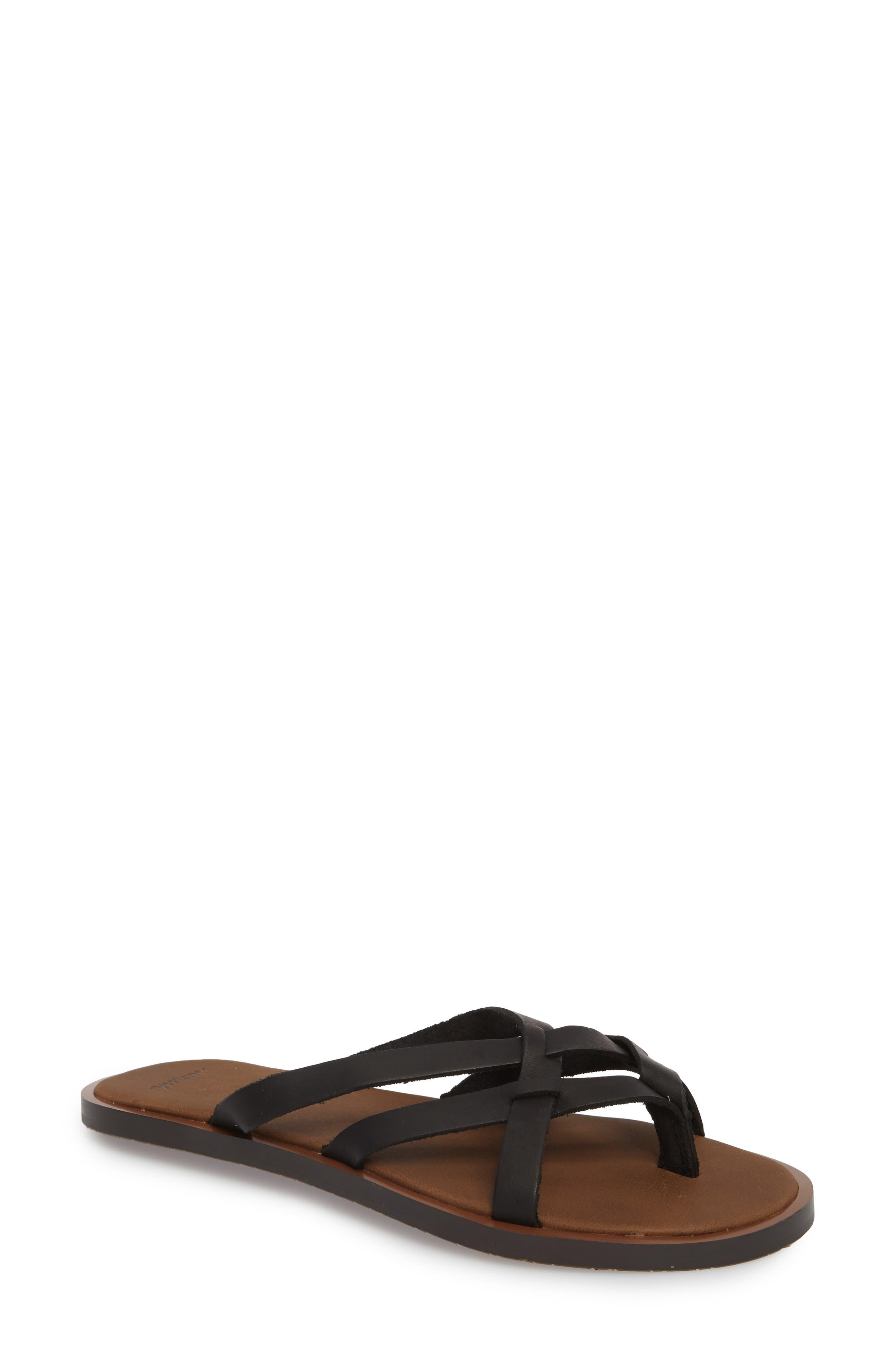 Yoga Strappy Thong Sandal,                         Main,                         color, 001