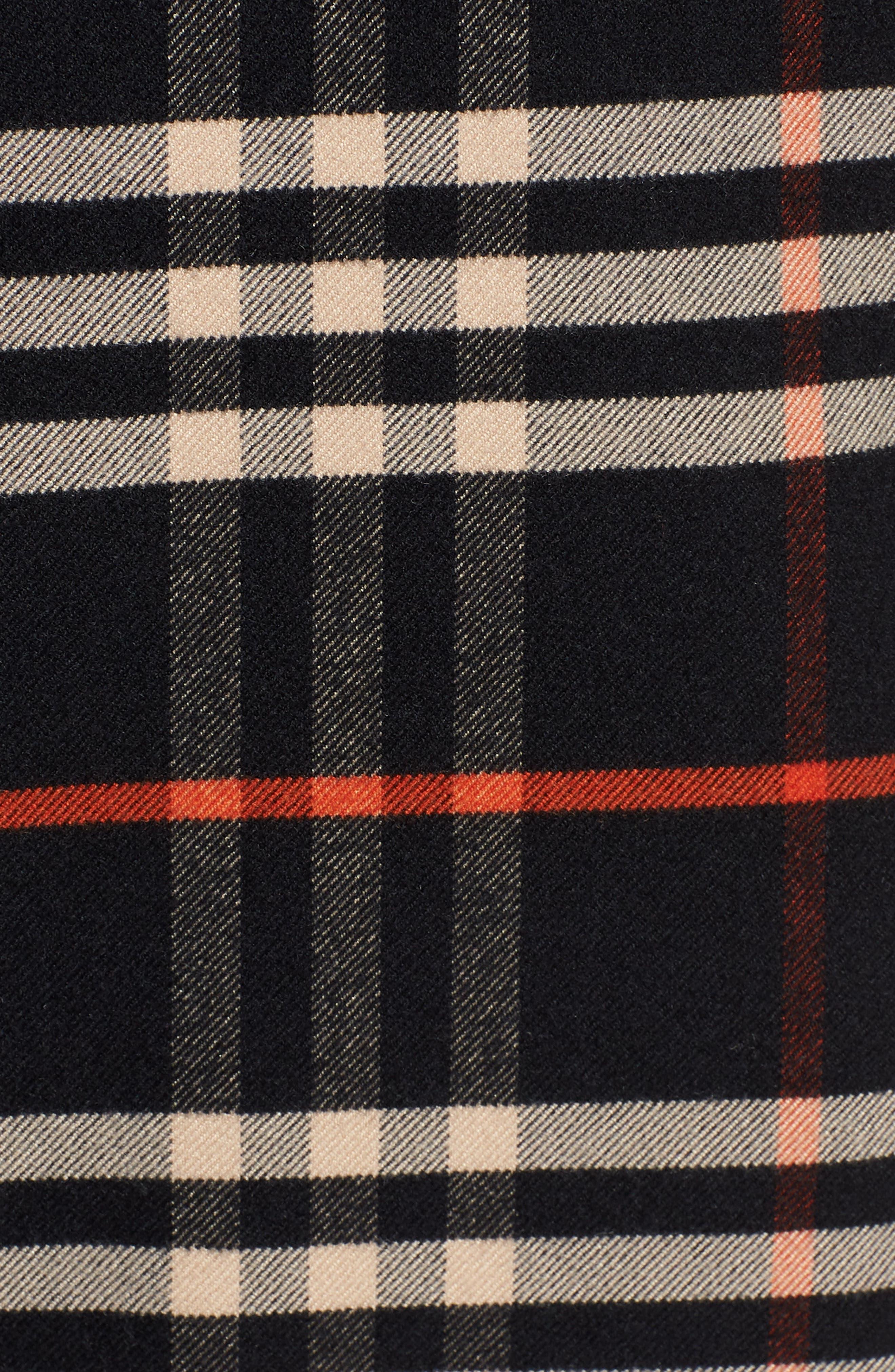 Check Shirtdress,                             Alternate thumbnail 6, color,                             001