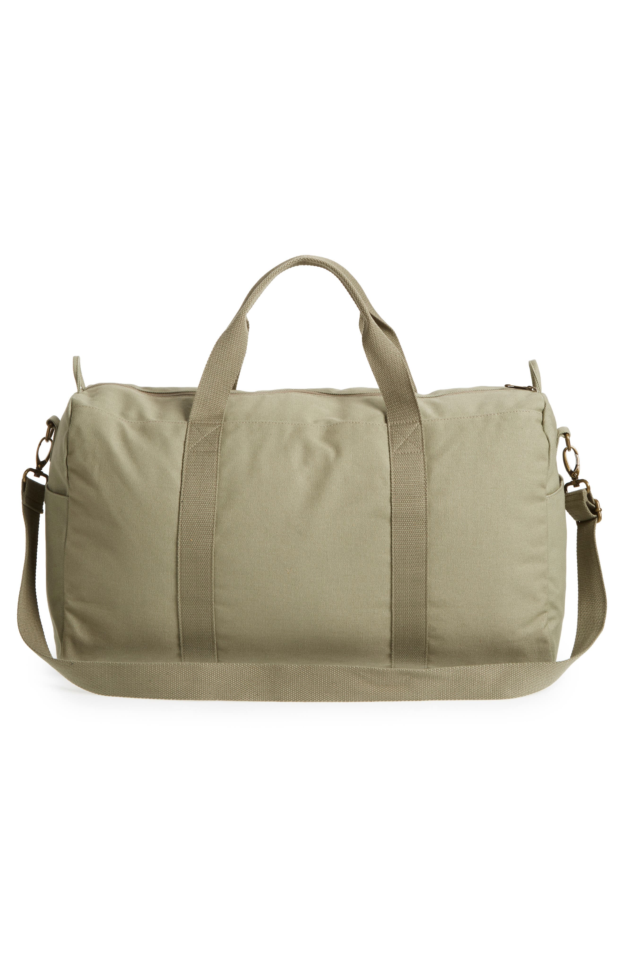 Essentials Canvas Duffel Bag,                             Alternate thumbnail 3, color,                             313