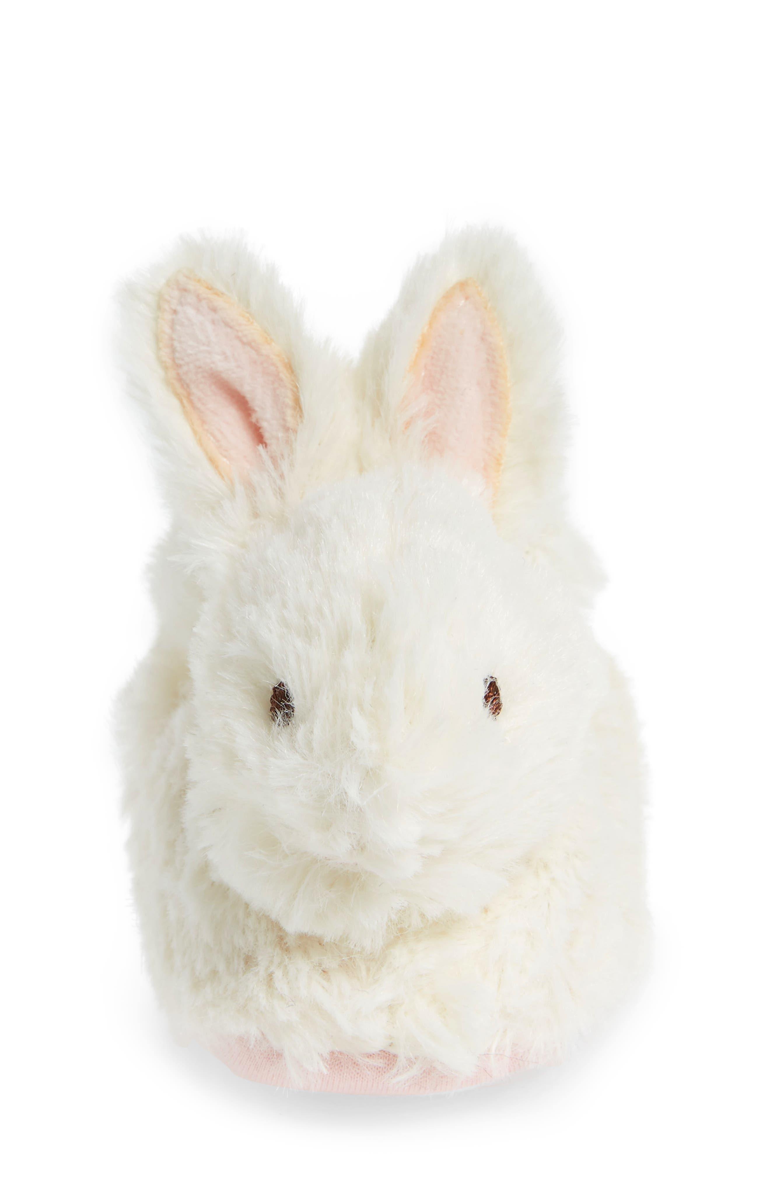 Faux Fur Bunny Slipper,                             Alternate thumbnail 4, color,                             100