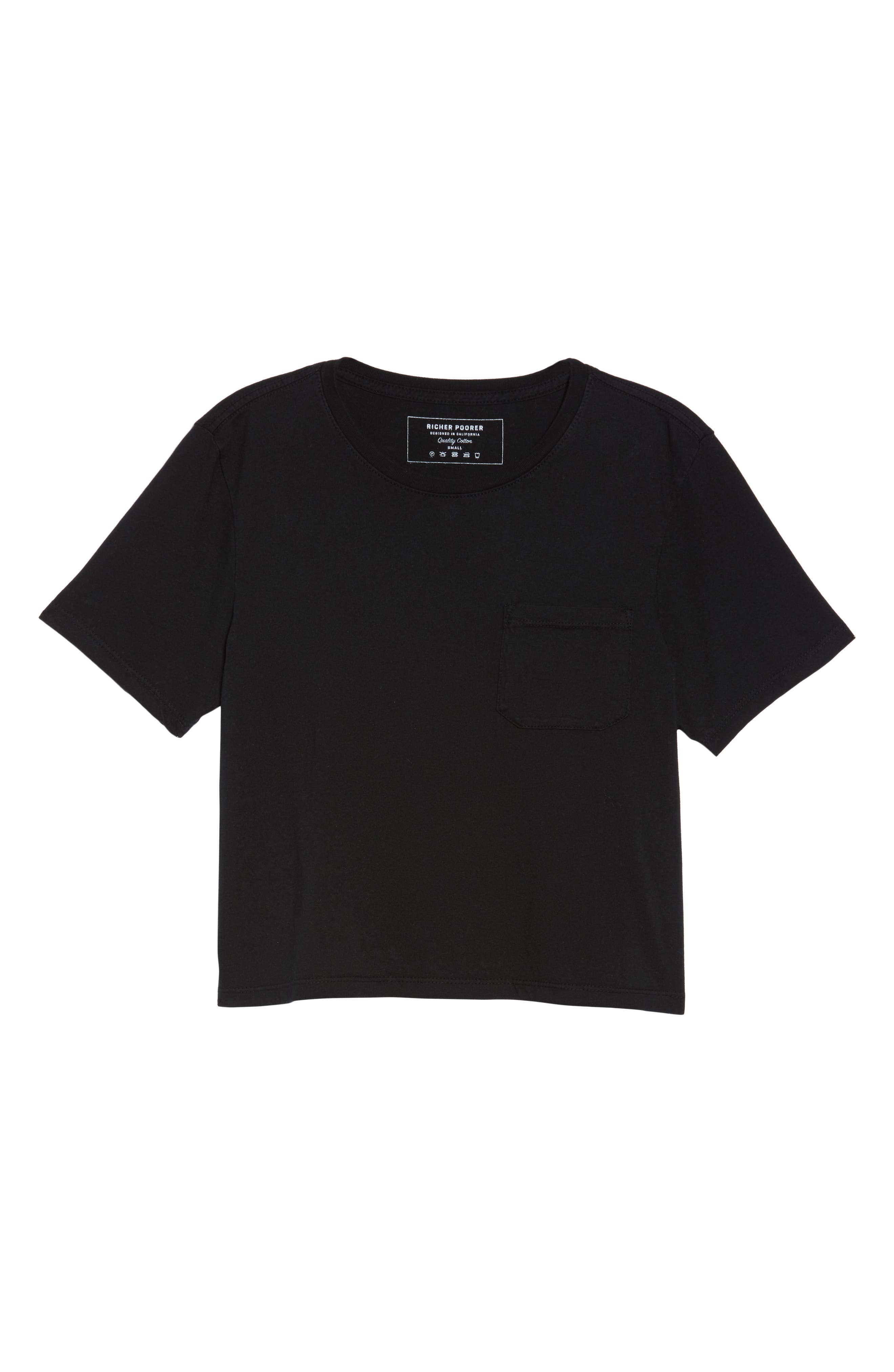 Boxy Crop Tee,                             Alternate thumbnail 6, color,                             BLACK