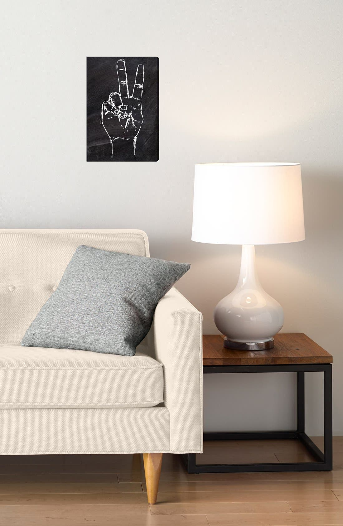 'Peace Out' Wall Art,                             Alternate thumbnail 2, color,                             020