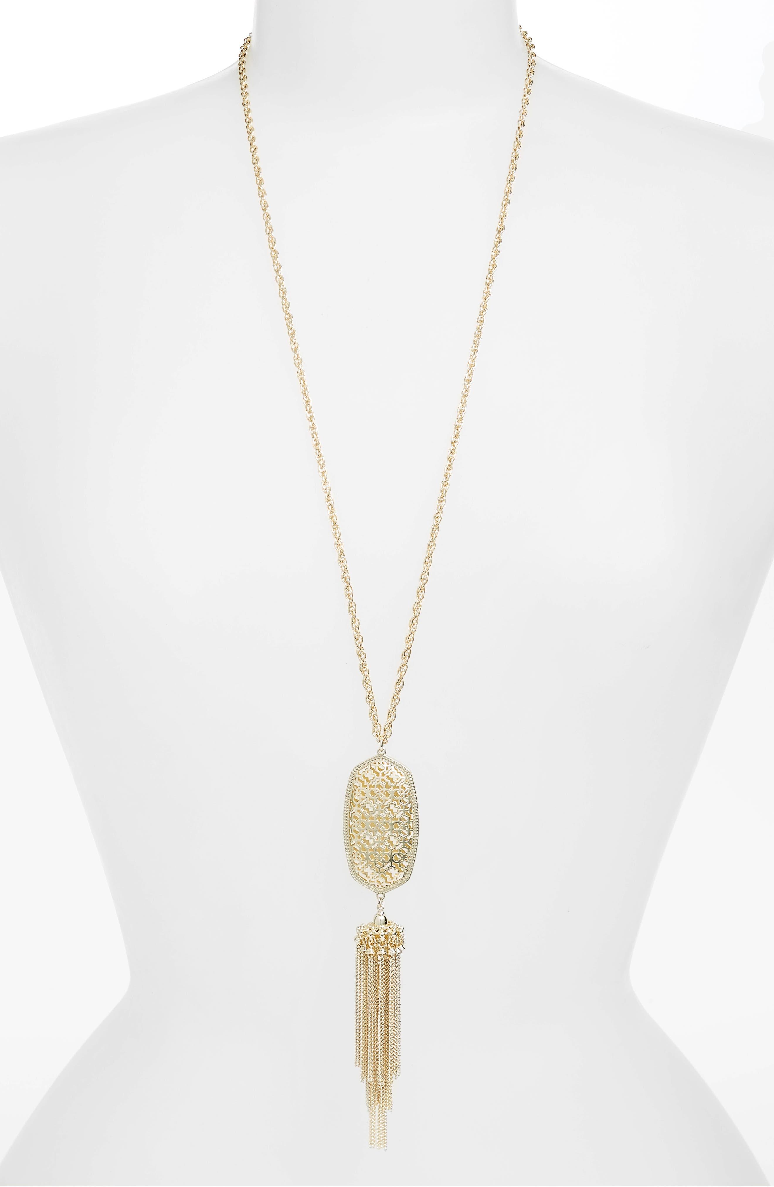 Rayne Stone Tassel Pendant Necklace,                             Main thumbnail 65, color,