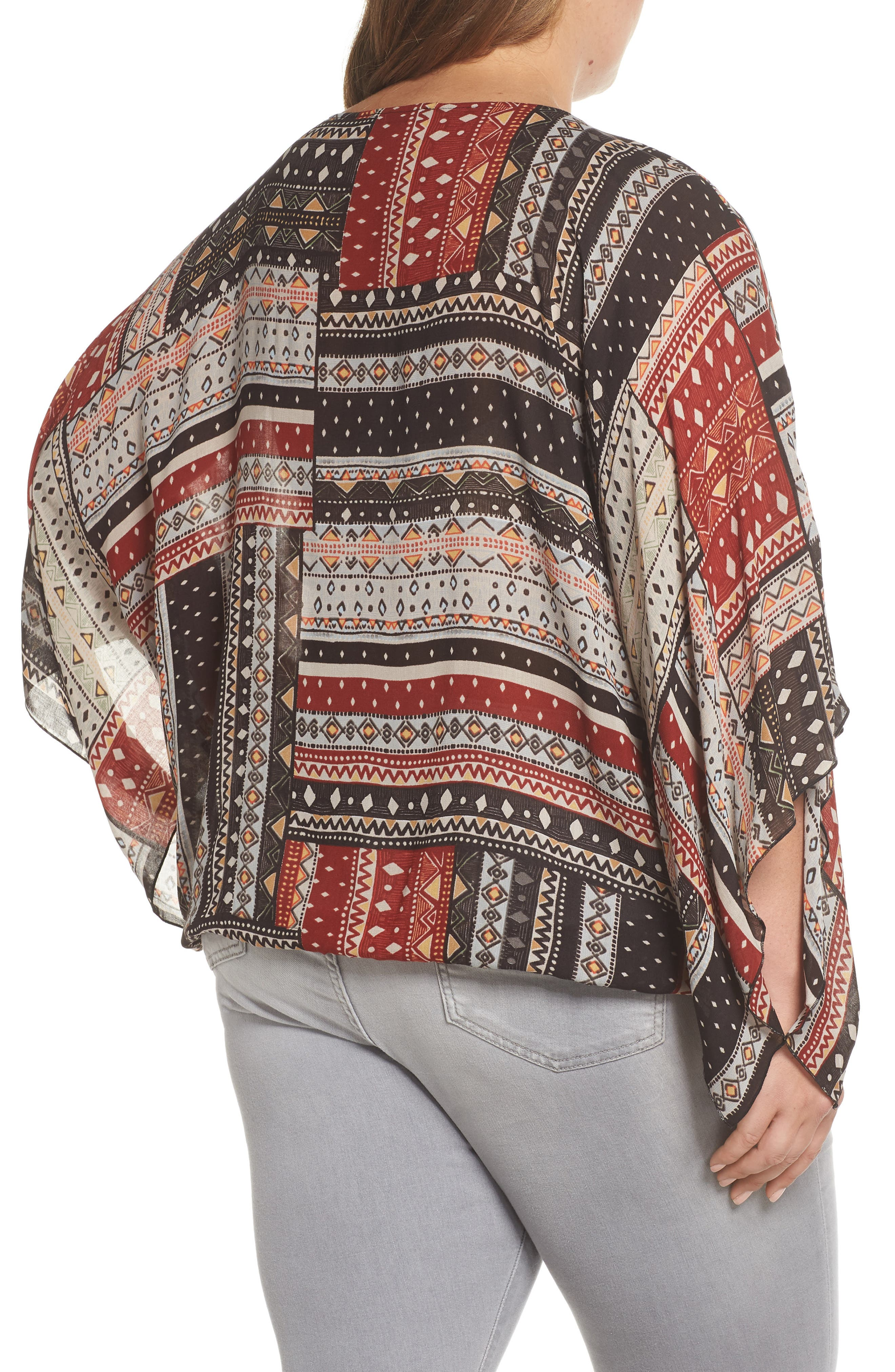 Poncho Top,                             Alternate thumbnail 2, color,                             209