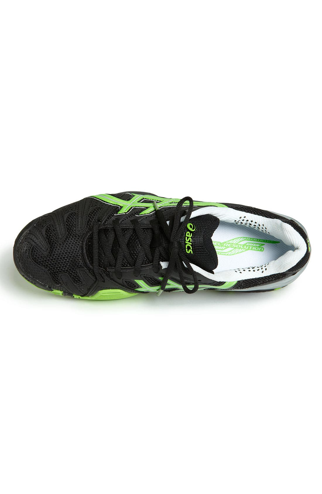 ASICS<SUP>®</SUP>,                             'GEL-Resolution 4' Tennis Shoe,                             Alternate thumbnail 4, color,                             007