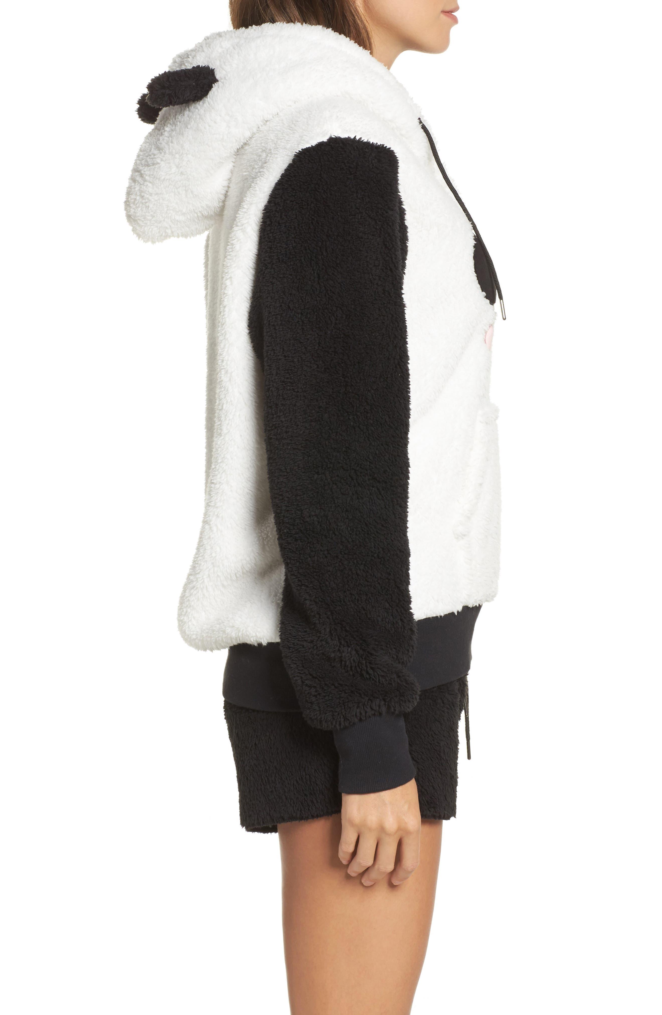 Hooded Plush Pajamas,                             Alternate thumbnail 3, color,                             001