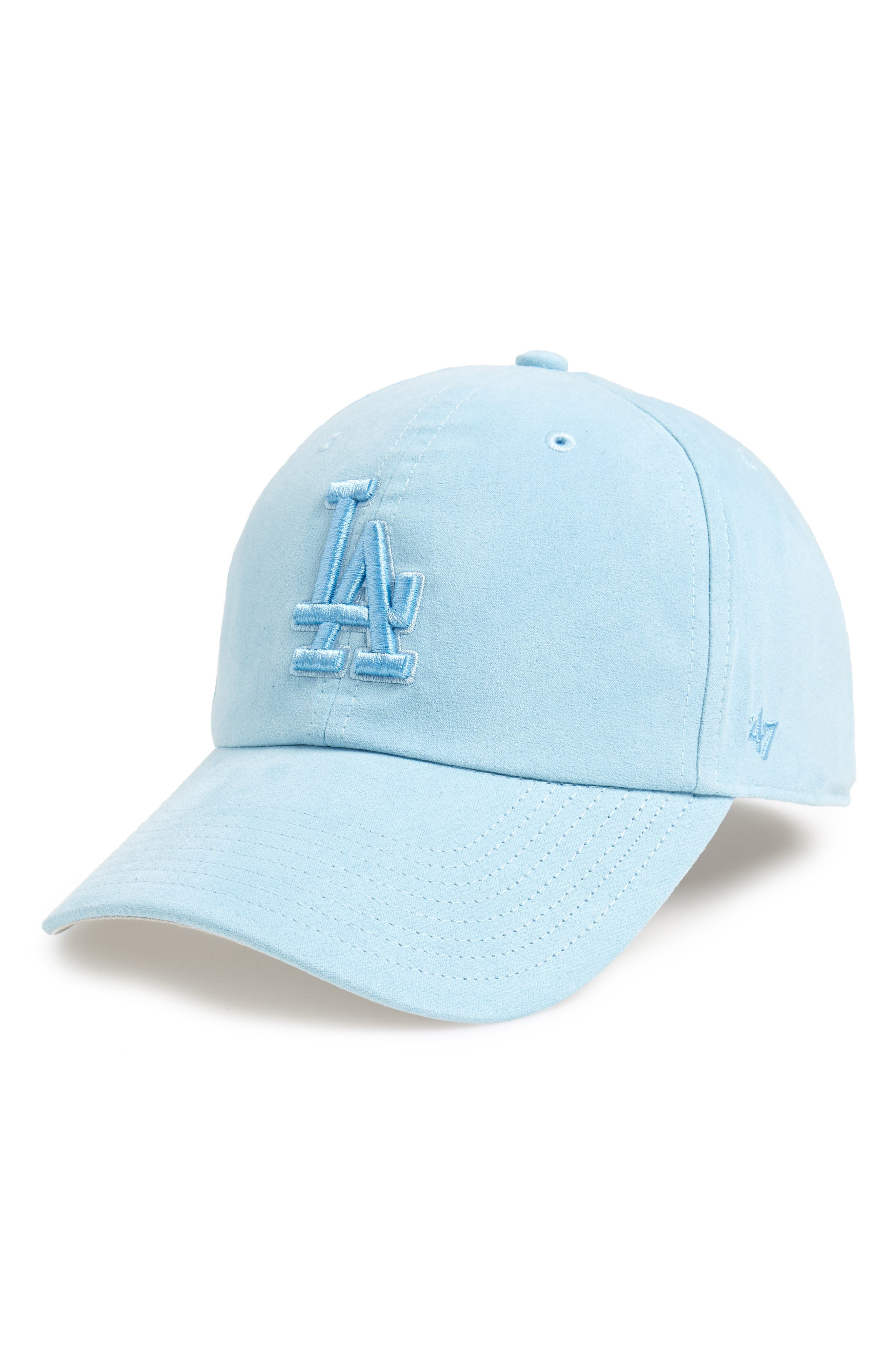 Ultrabasic Clean Up Los Angeles Dodgers Baseball Cap,                             Main thumbnail 1, color,                             LIGHT BLUE