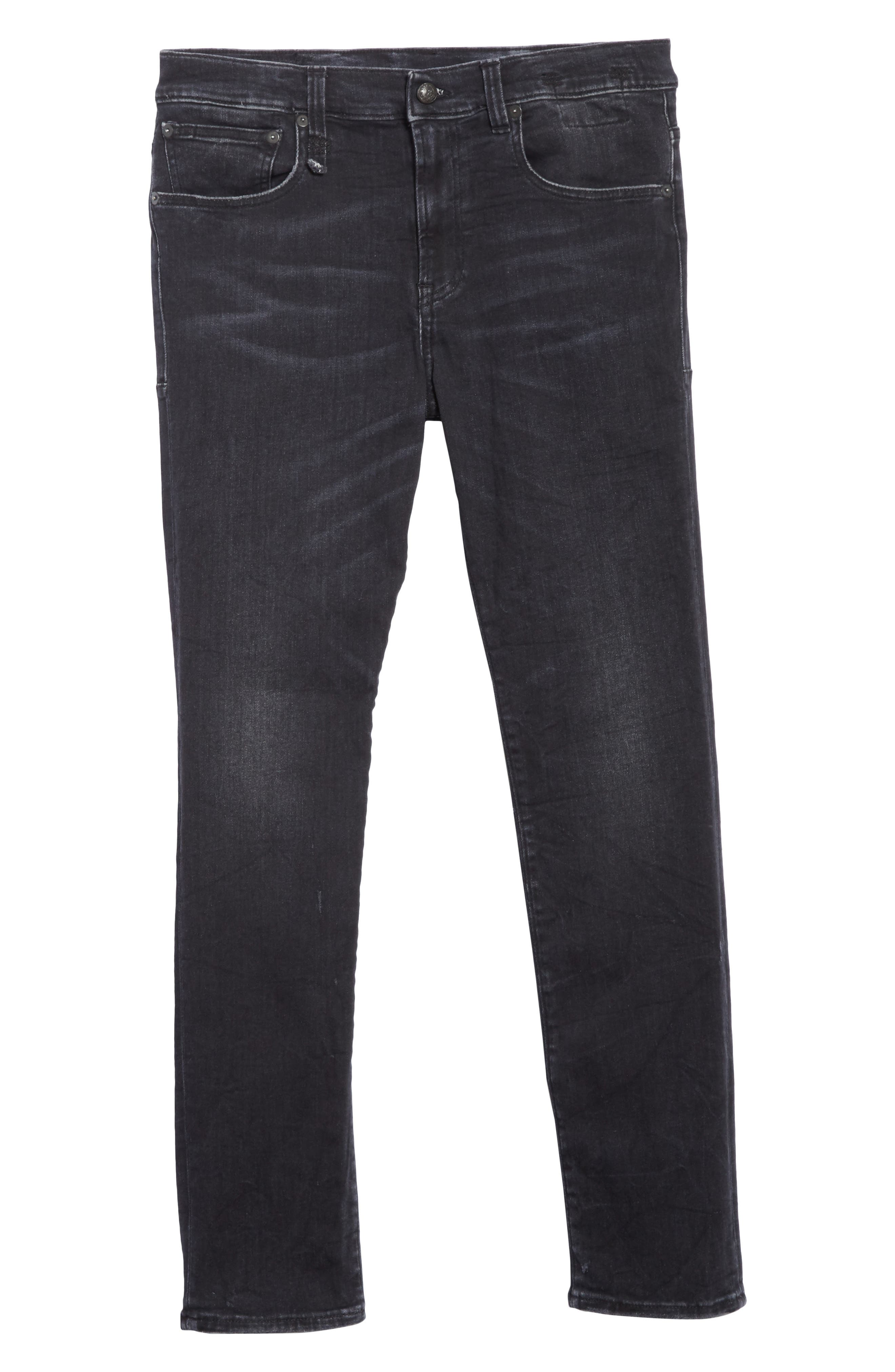 Skate Jeans,                             Alternate thumbnail 6, color,                             BLACK MARBLE