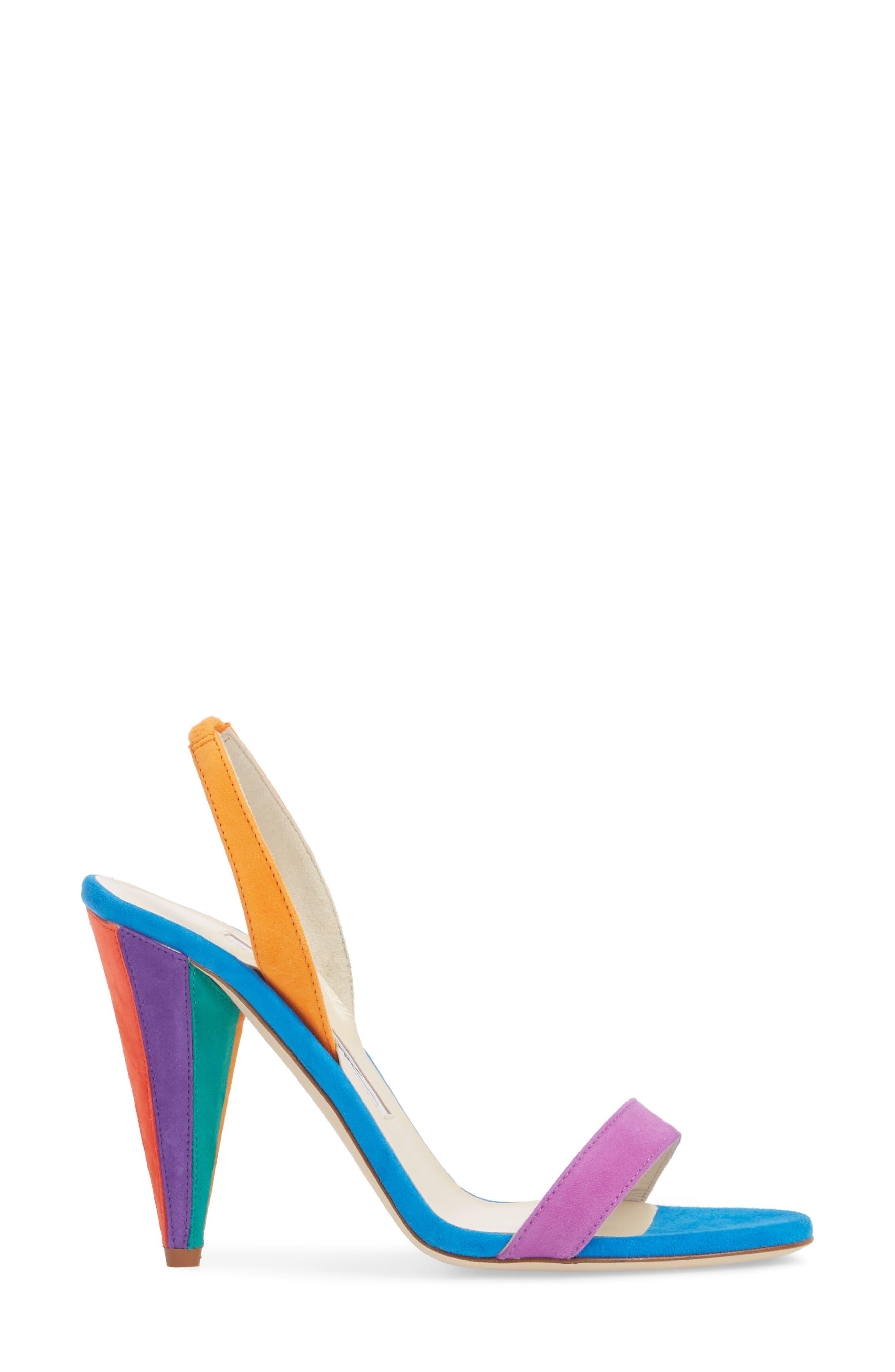 Susii Cone Heel Sandal,                             Alternate thumbnail 3, color,                             400