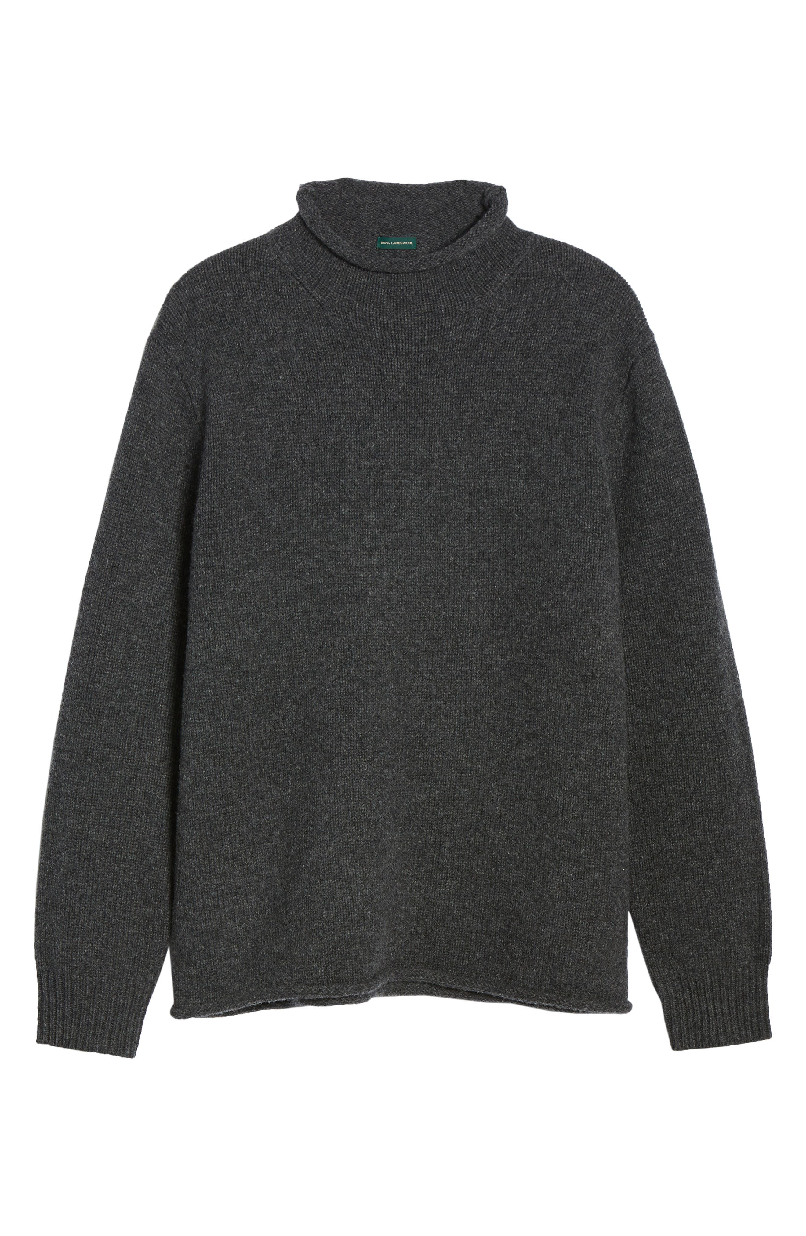 J.CREW,                             Relaxed Rollneck<sup>™</sup> Lambswool Sweater,                             Alternate thumbnail 6, color,                             020