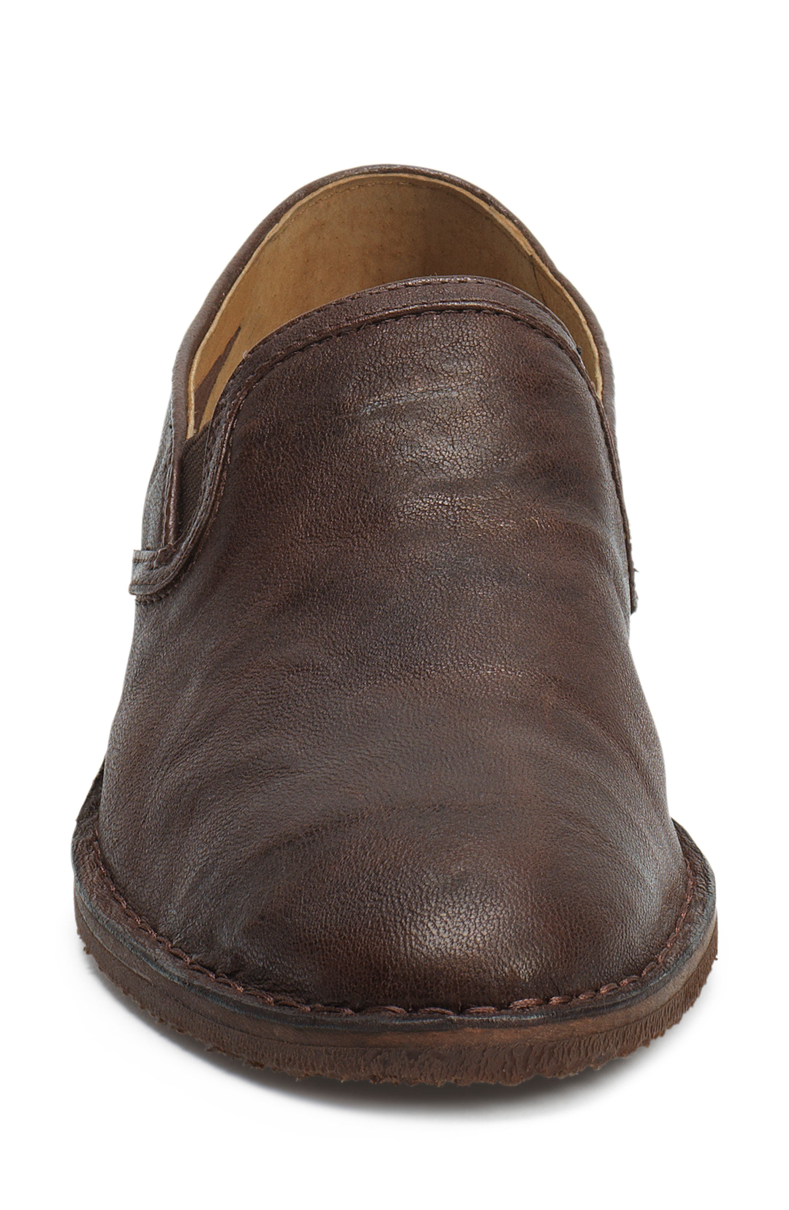 'Ali' Flat,                             Alternate thumbnail 4, color,                             BROWN LEATHER