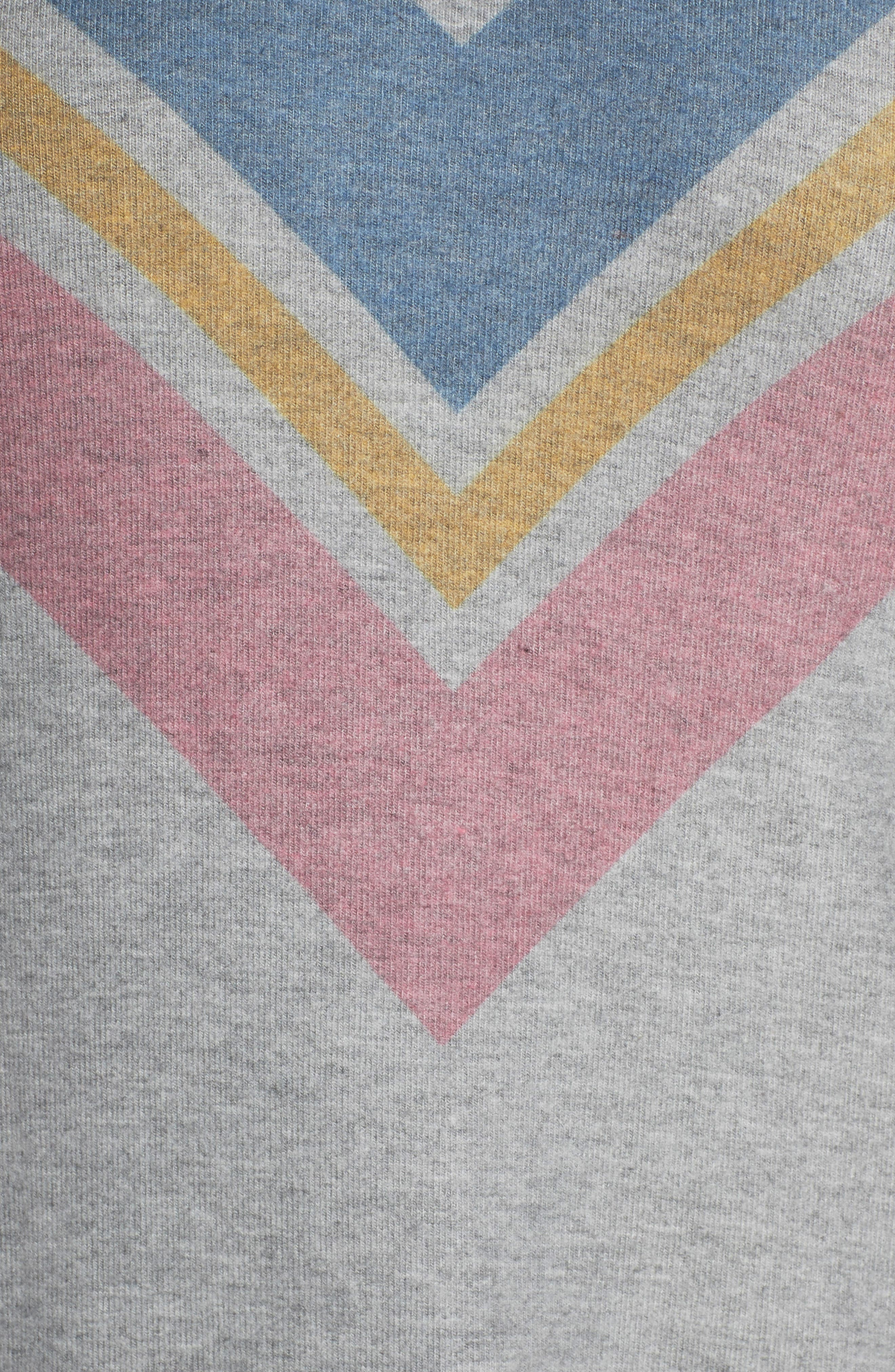 Lounge Essentials Chevron Pullover,                             Alternate thumbnail 5, color,                             HEATHER GREY