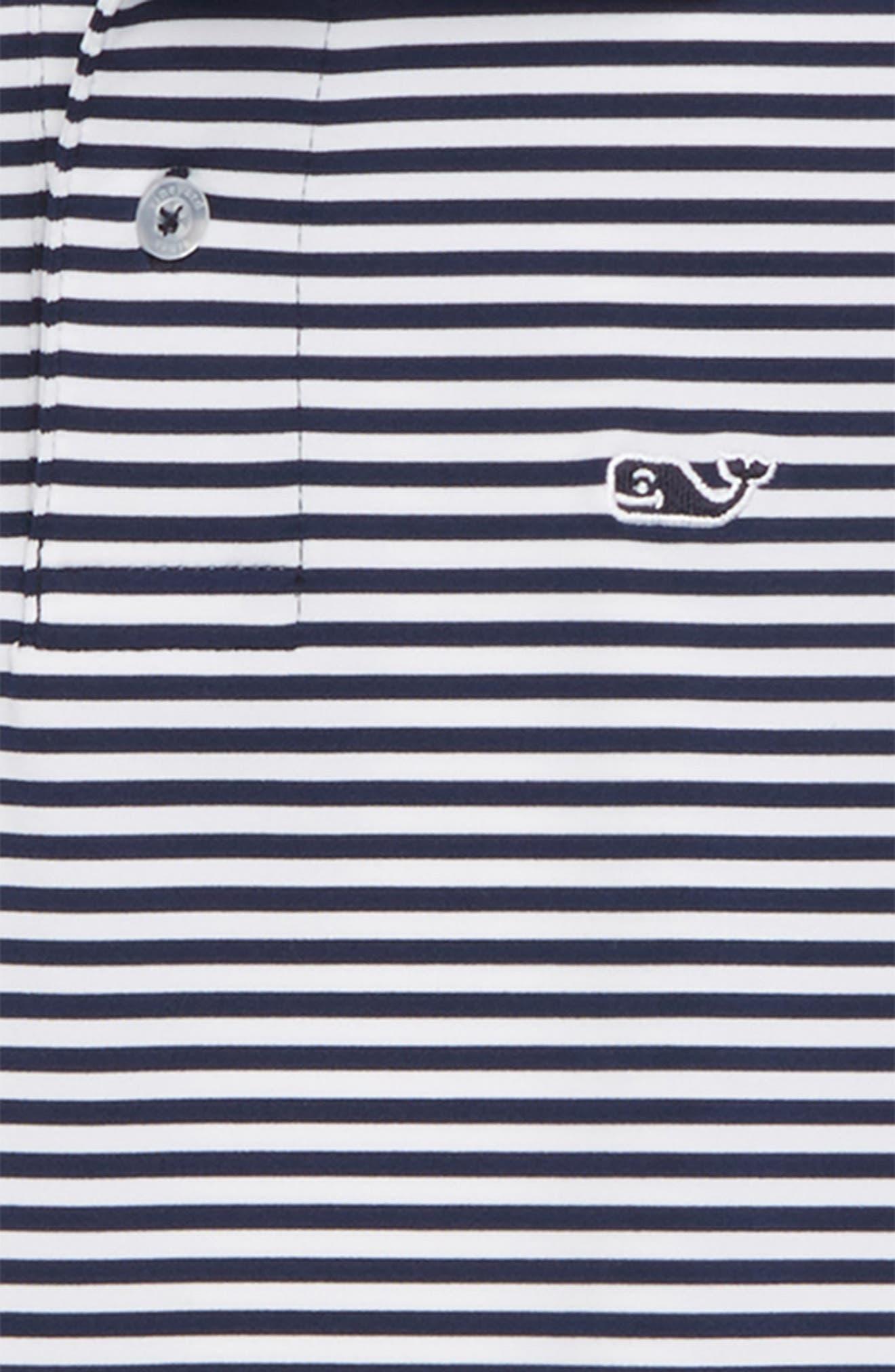 Feeder Stripe Performance Polo,                             Alternate thumbnail 7, color,