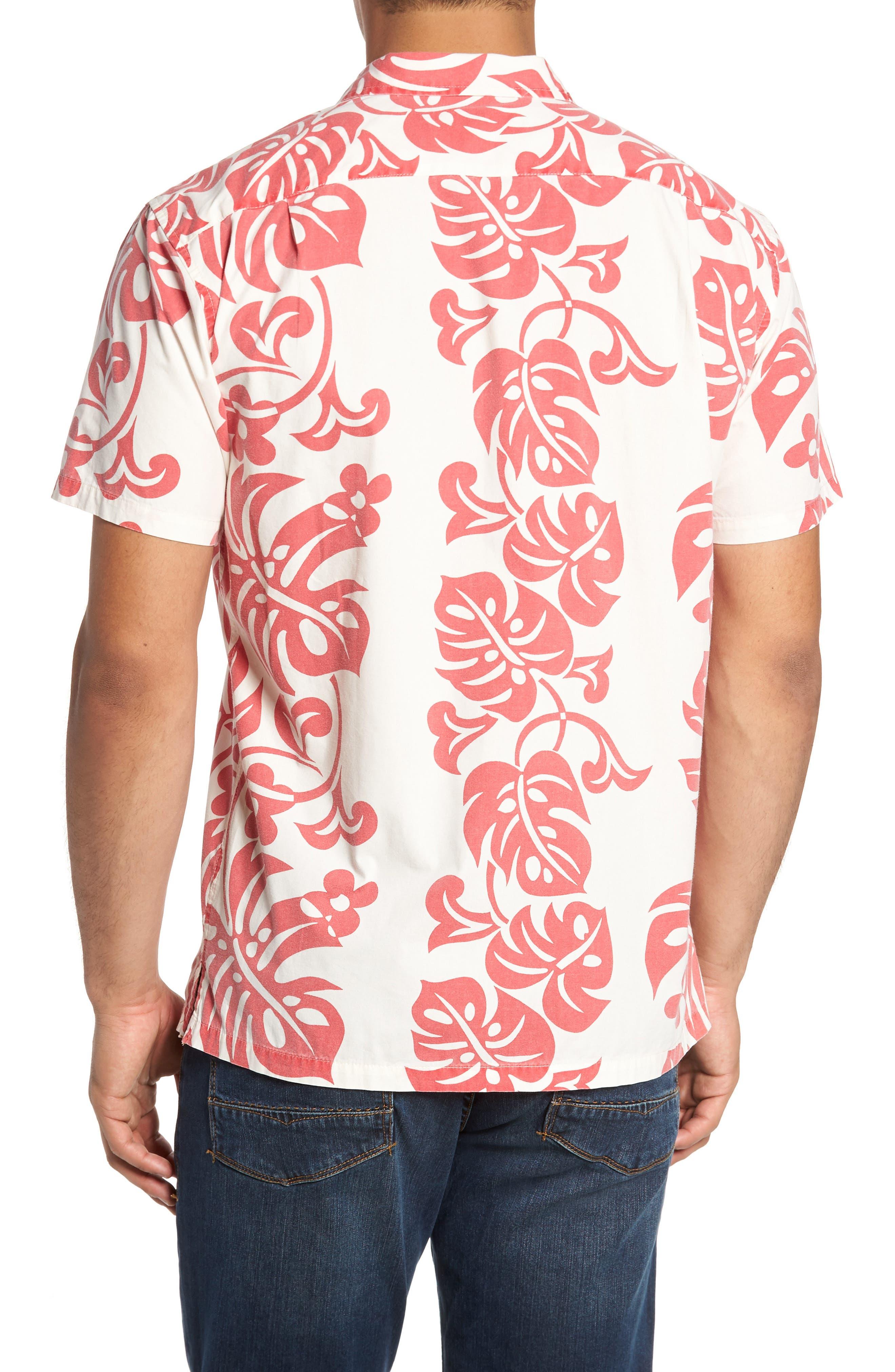 Malama Trim Fit Print Sport Shirt,                             Alternate thumbnail 2, color,