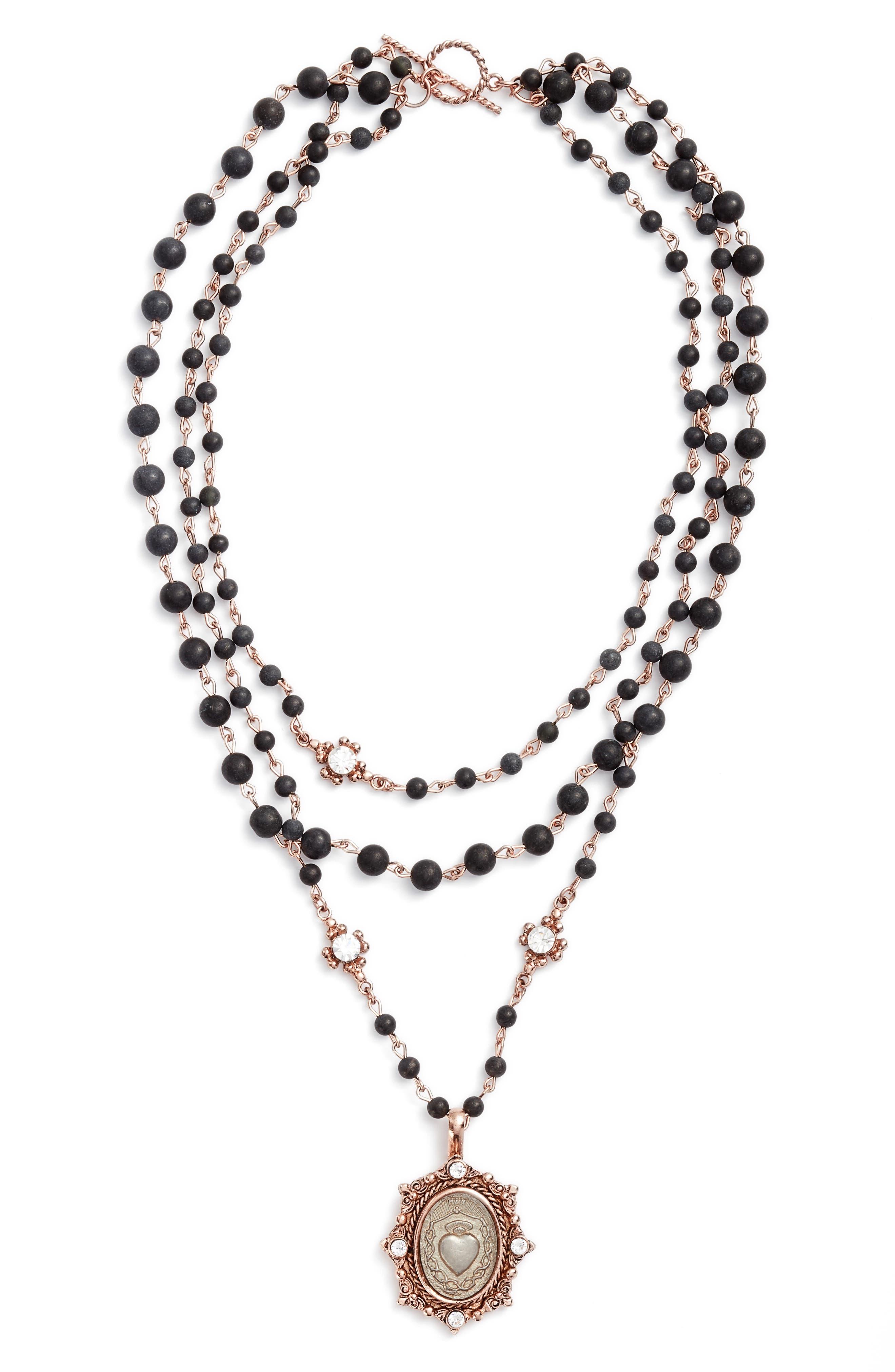 Magdalena Multistrand Necklace,                         Main,                         color, 711