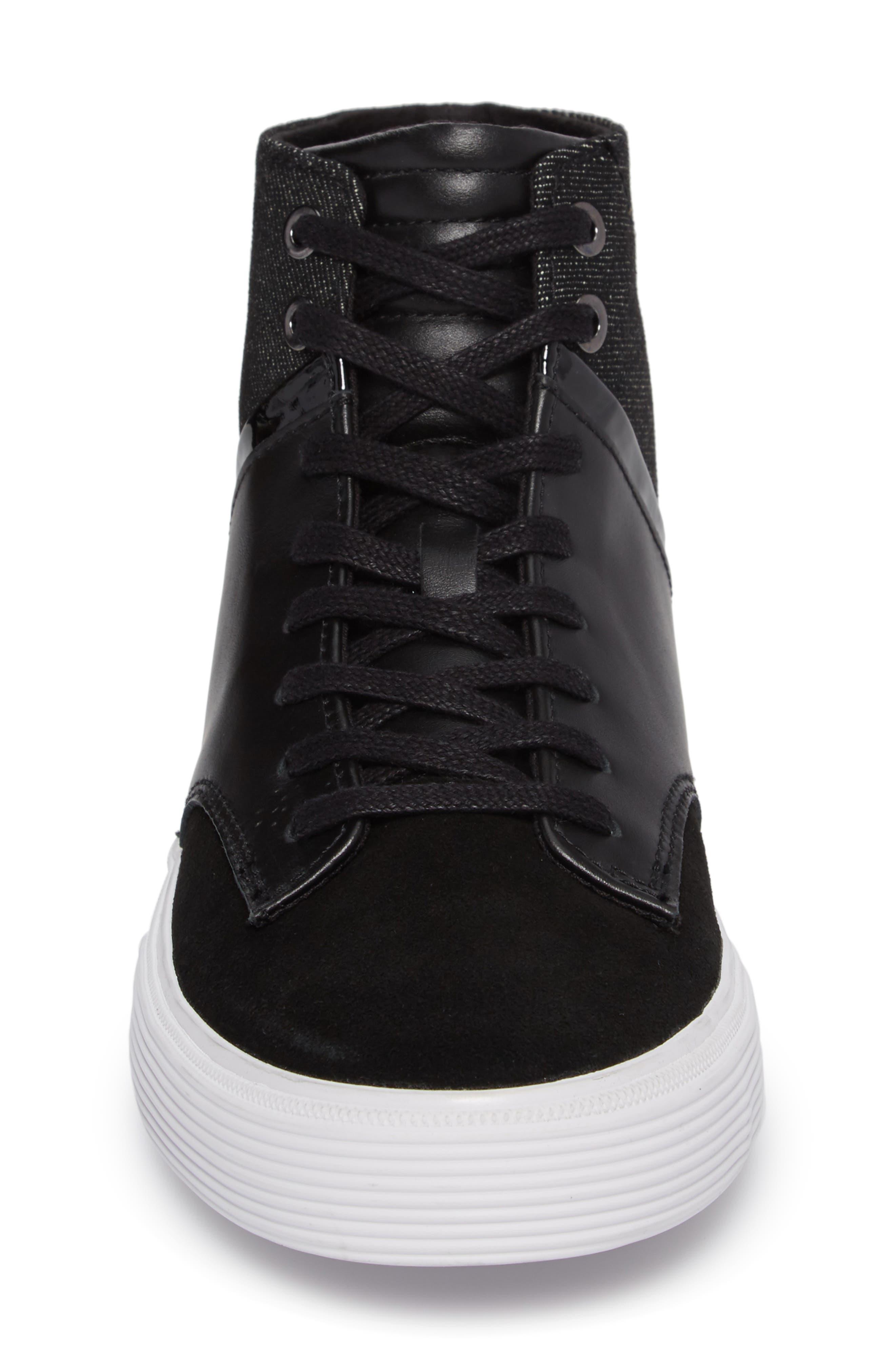 Joe Mac High Top Sneaker,                             Alternate thumbnail 4, color,                             001