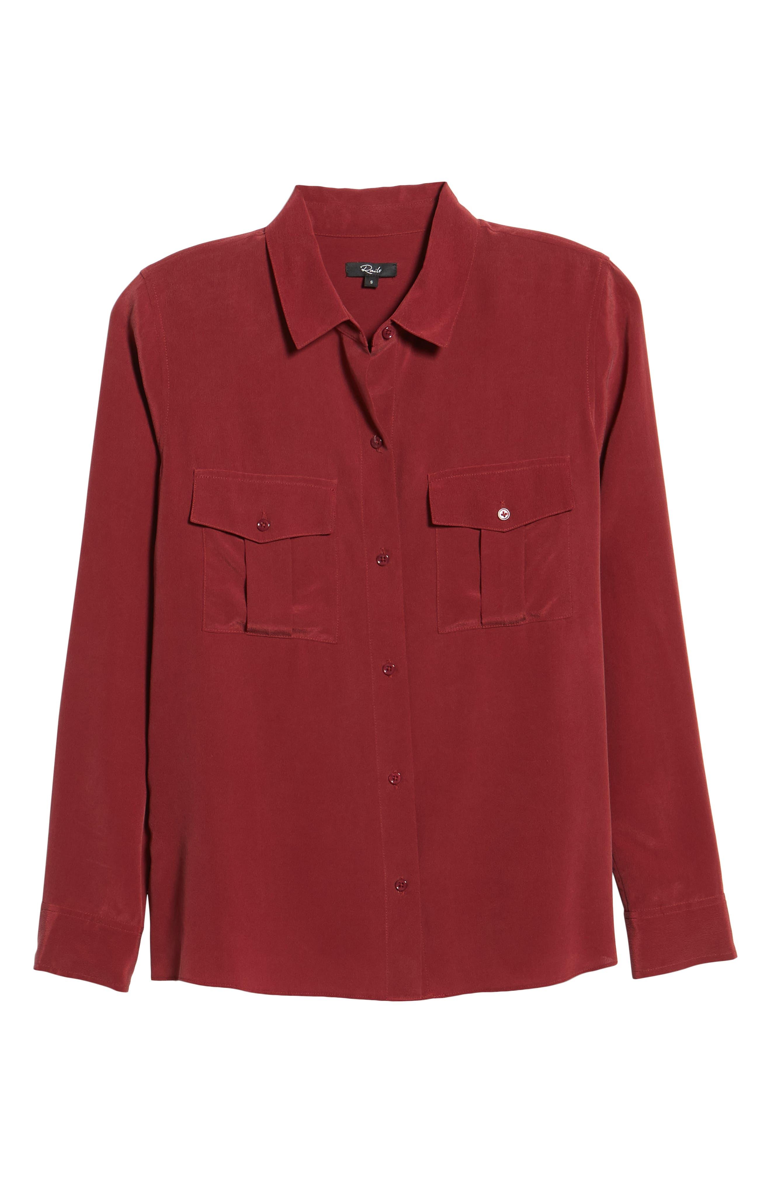 Rhett Silk Shirt,                             Alternate thumbnail 6, color,                             930