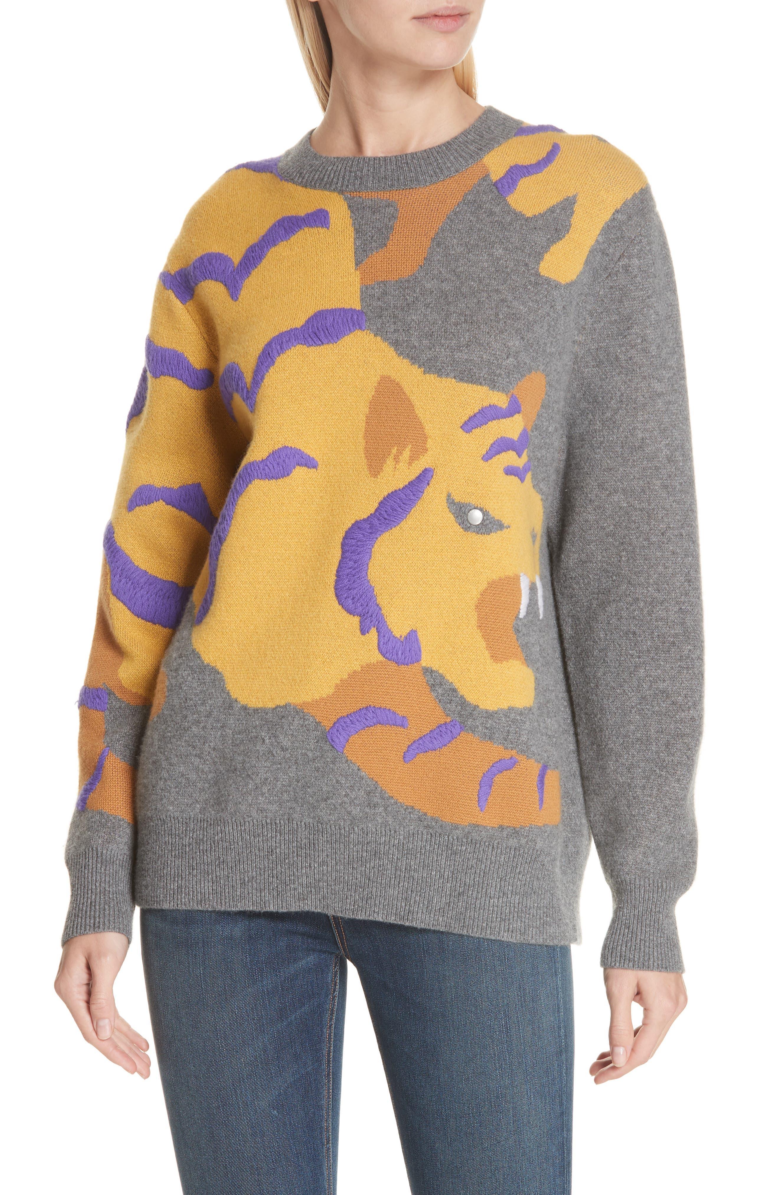RAG & BONE,                             Tiger Cashmere Sweater,                             Main thumbnail 1, color,                             CHARCOAL
