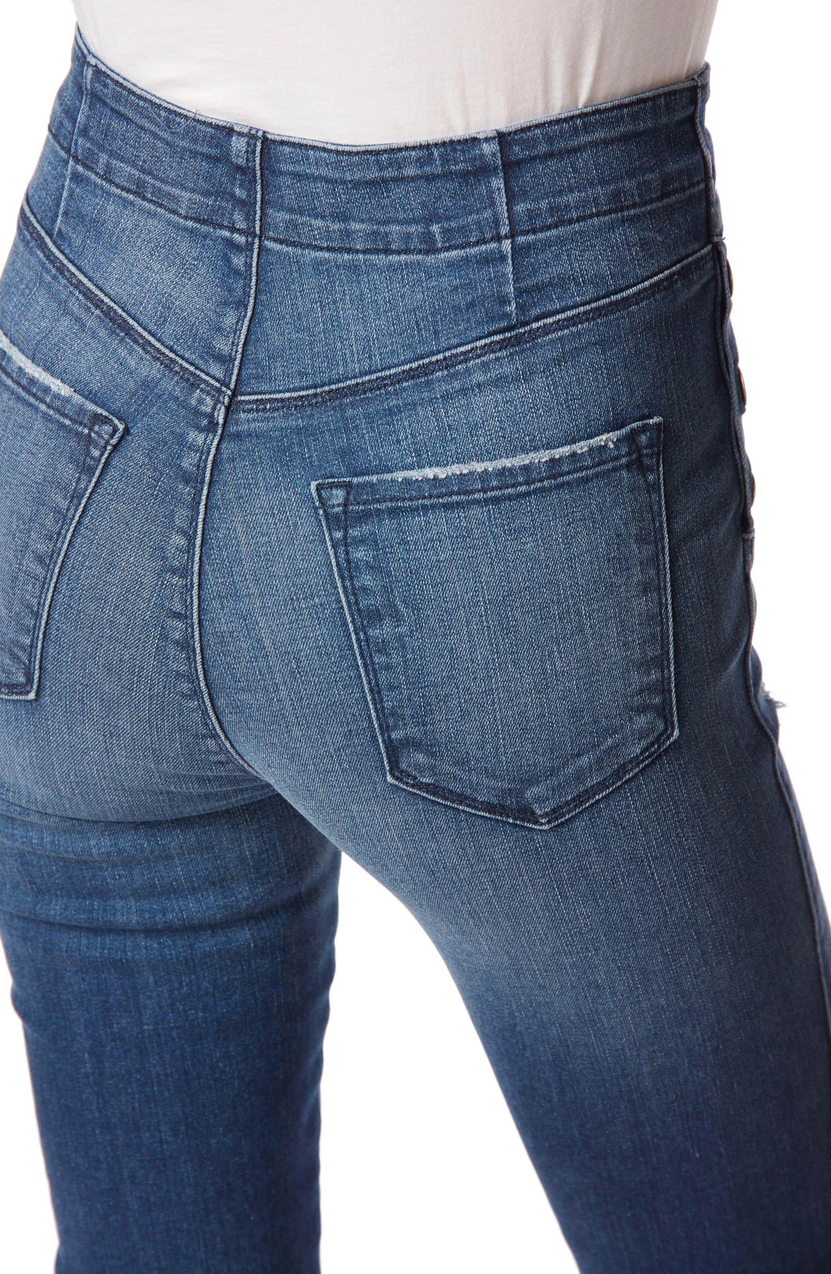 Natasha Sky High High Waist Skinny Jeans,                             Alternate thumbnail 6, color,                             234
