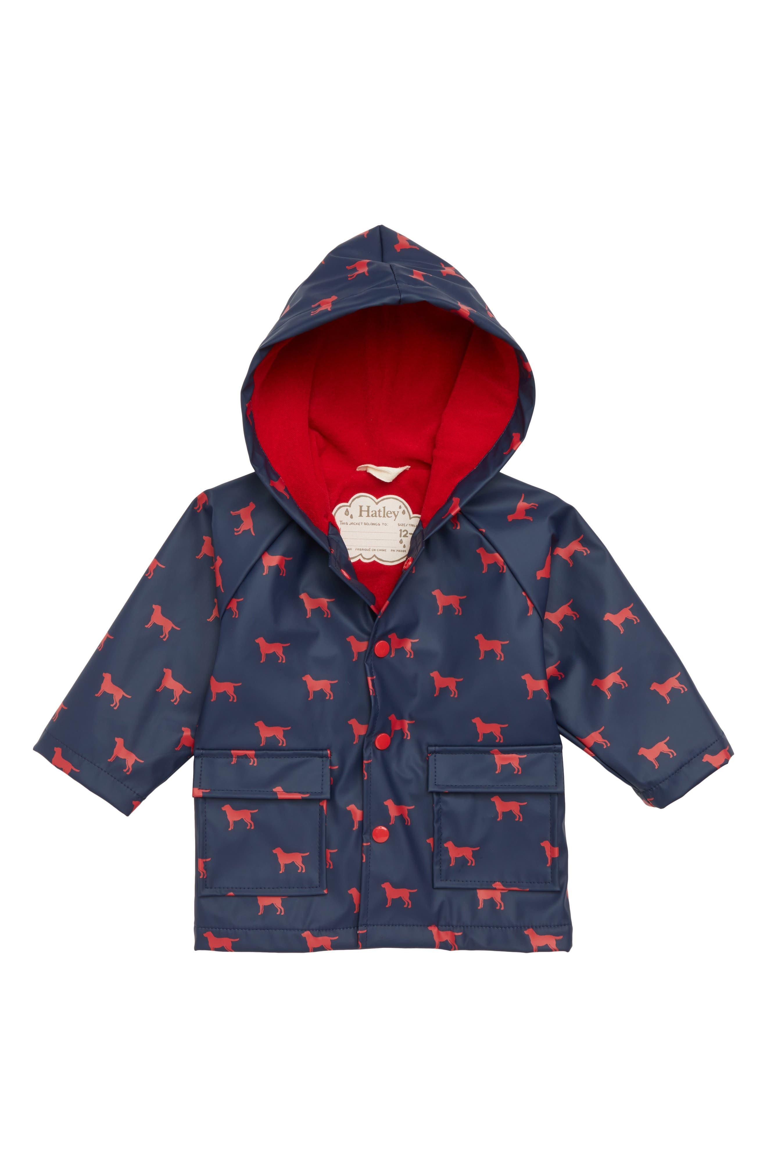 Labrador Print Waterproof Hooded Raincoat,                         Main,                         color, 400