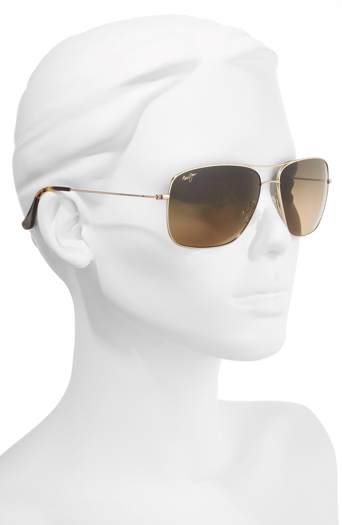 Cook Pines 63mm Polarized Titanium Aviator Sunglasses,                             Alternate thumbnail 8, color,